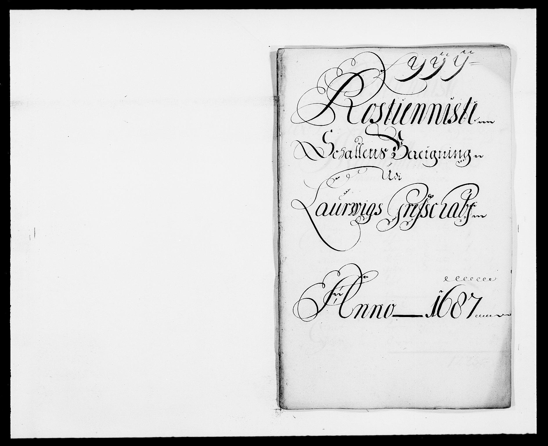 RA, Rentekammeret inntil 1814, Reviderte regnskaper, Fogderegnskap, R33/L1970: Fogderegnskap Larvik grevskap, 1675-1687, s. 349