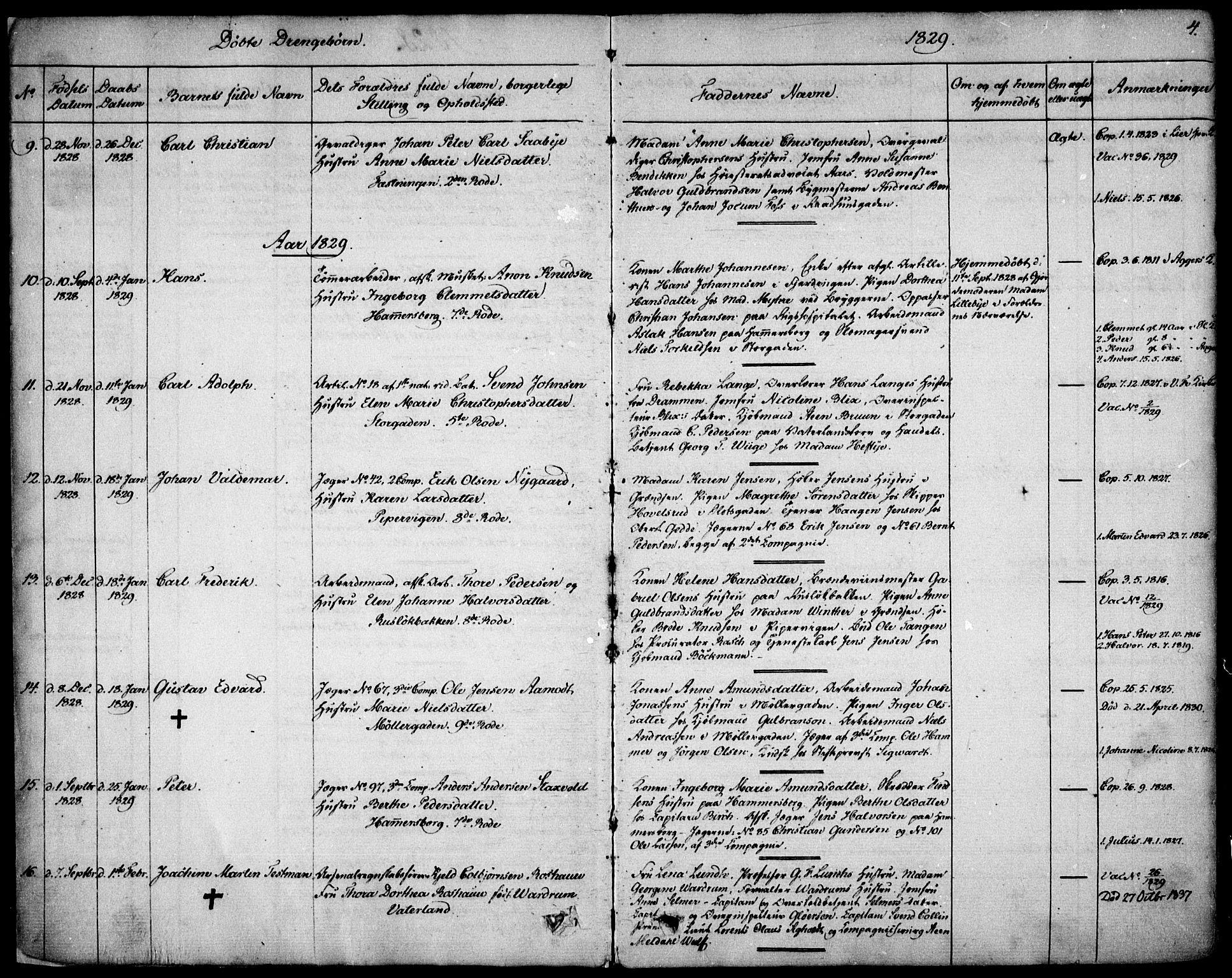 SAO, Garnisonsmenigheten Kirkebøker, F/Fa/L0006: Ministerialbok nr. 6, 1828-1841, s. 4