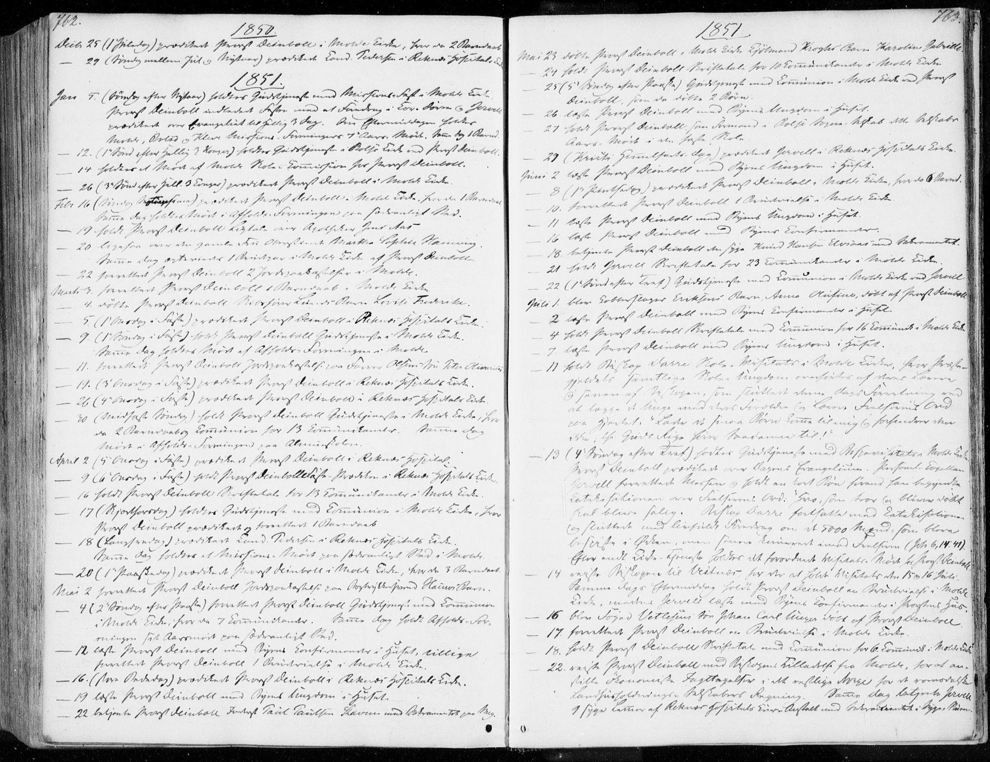 SAT, Ministerialprotokoller, klokkerbøker og fødselsregistre - Møre og Romsdal, 558/L0689: Ministerialbok nr. 558A03, 1843-1872, s. 762-763