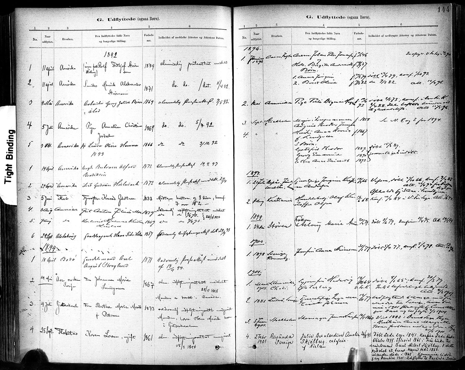 SAT, Ministerialprotokoller, klokkerbøker og fødselsregistre - Sør-Trøndelag, 602/L0120: Ministerialbok nr. 602A18, 1880-1913, s. 144