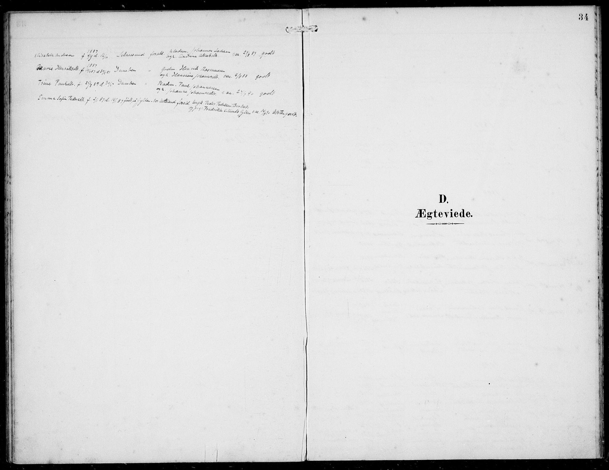SAB, Solund sokneprestembete, Ministerialbok nr. B  1, 1891-1901, s. 34