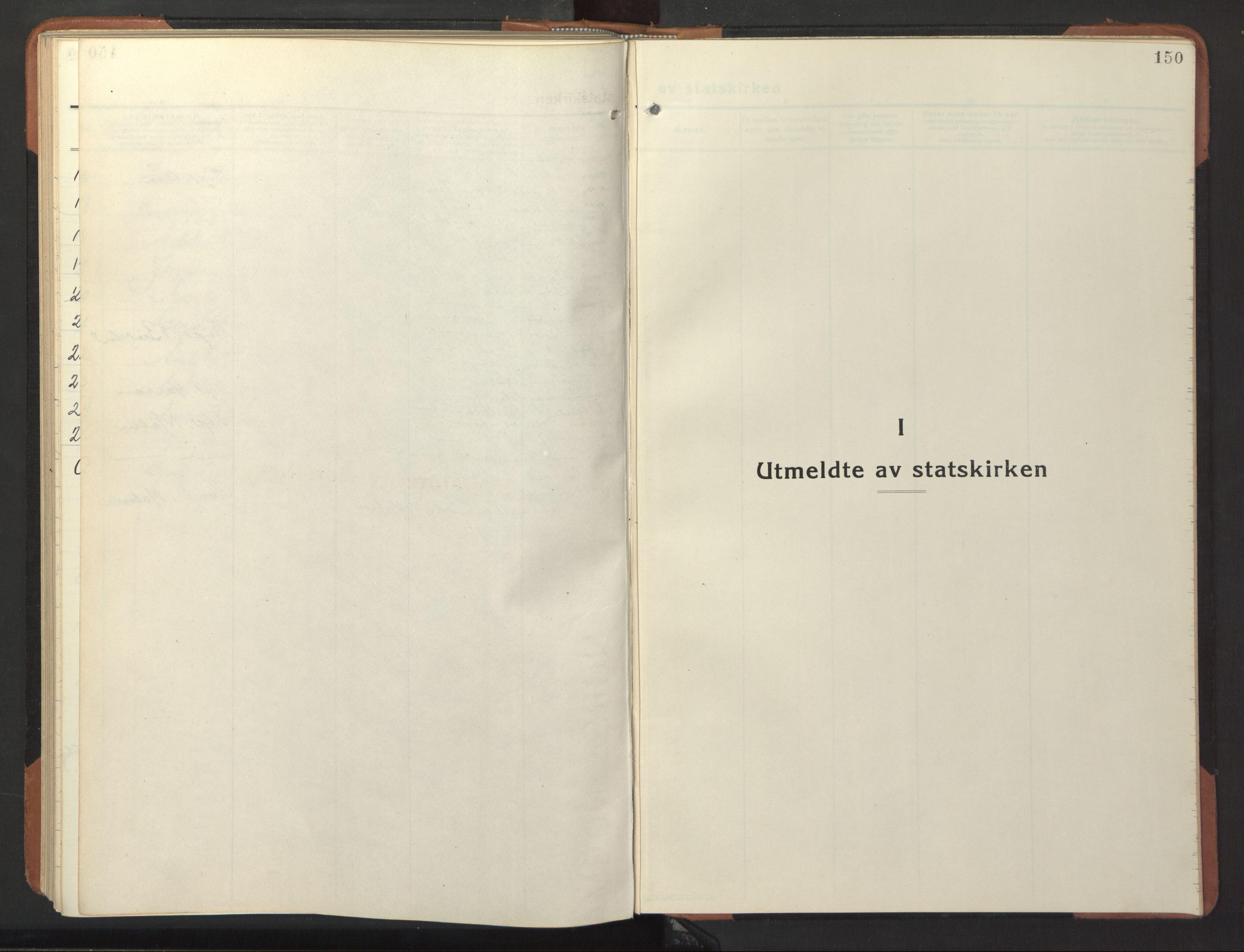 SAT, Ministerialprotokoller, klokkerbøker og fødselsregistre - Nord-Trøndelag, 744/L0425: Klokkerbok nr. 744C04, 1924-1947, s. 150