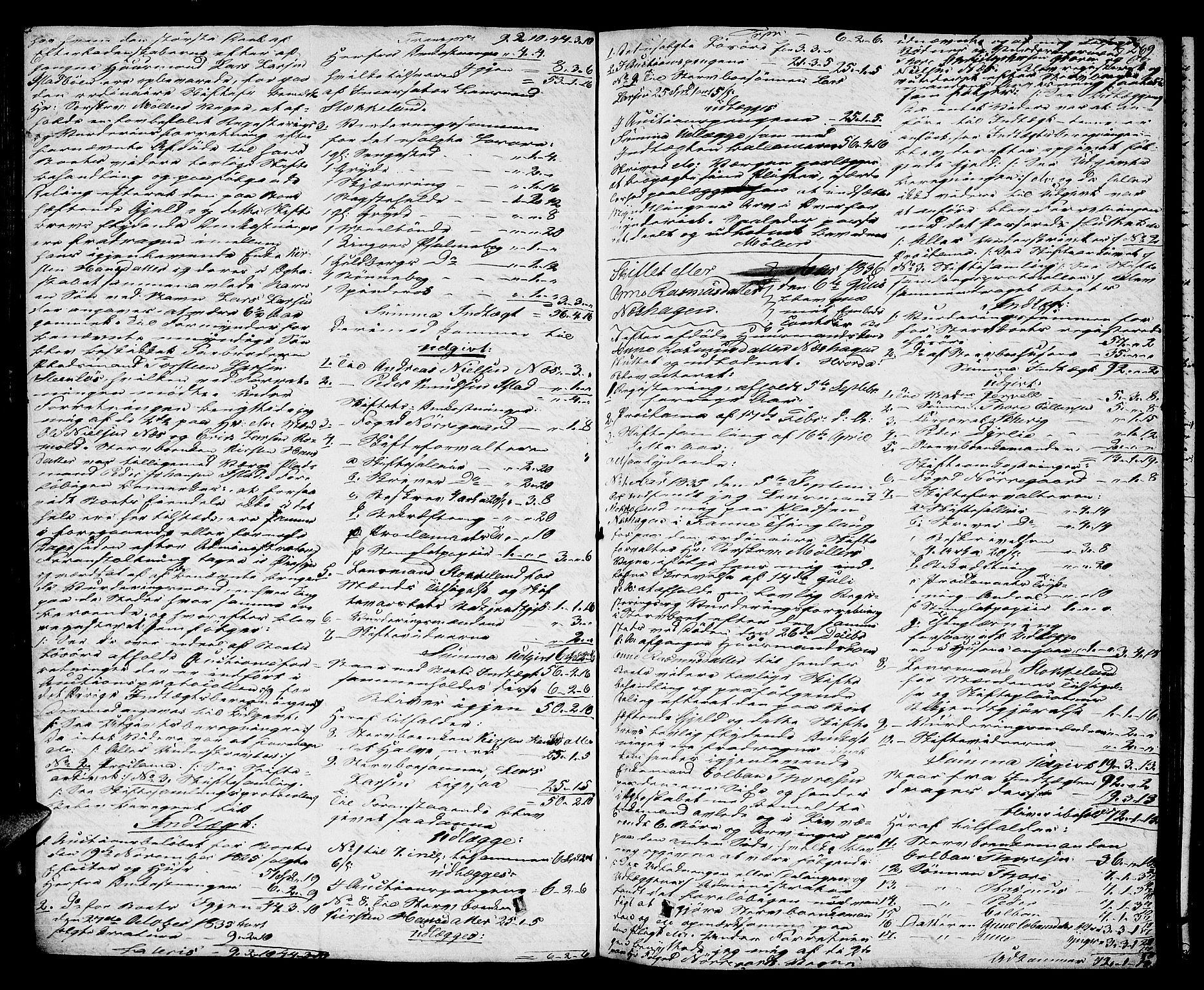 SAT, Romsdal sorenskriveri, 3/3A/L0017: Skifteutlodnings Protokoll 3, 1832-1840, s. 269