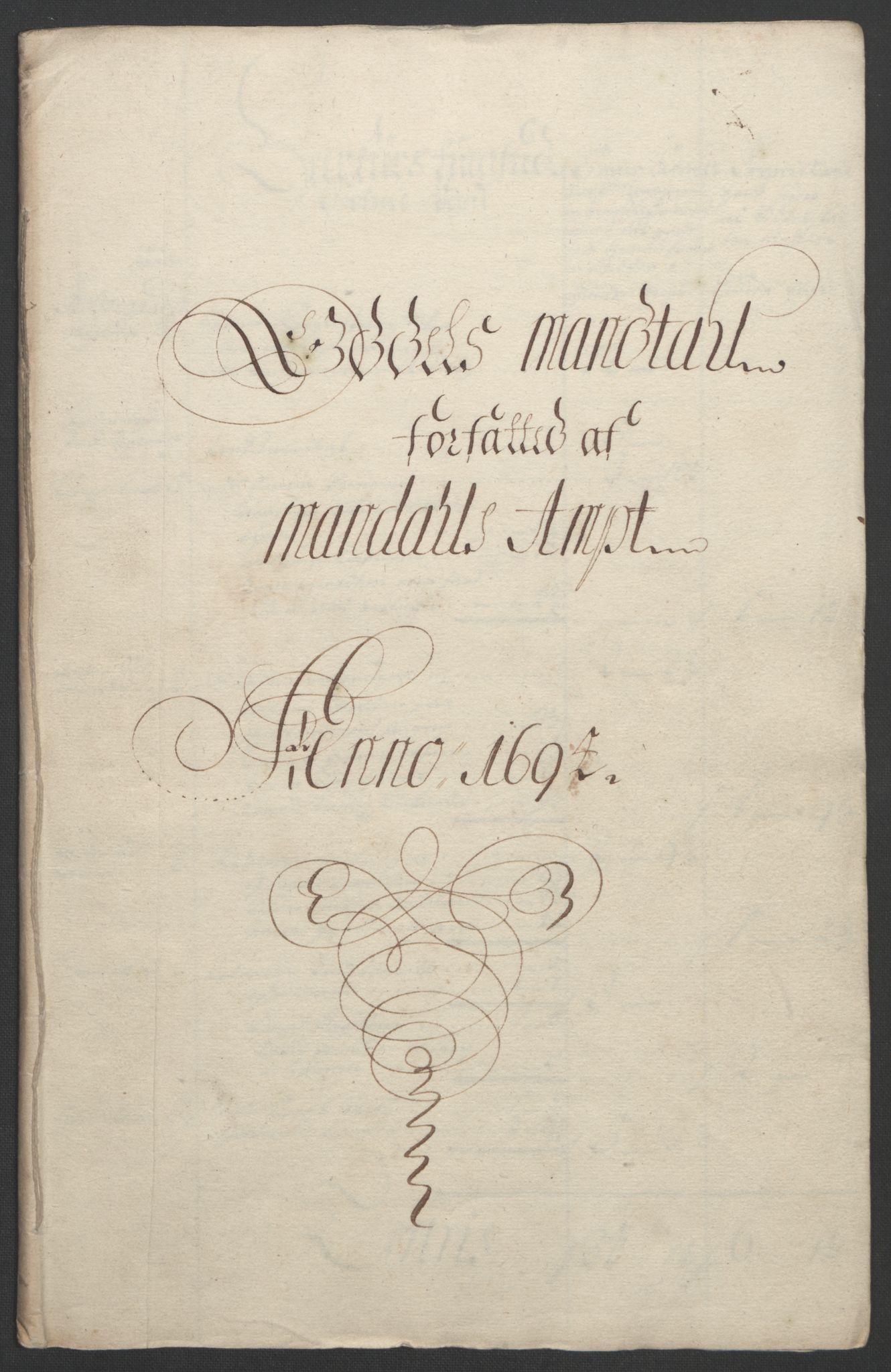 RA, Rentekammeret inntil 1814, Reviderte regnskaper, Fogderegnskap, R43/L2545: Fogderegnskap Lista og Mandal, 1694-1695, s. 152