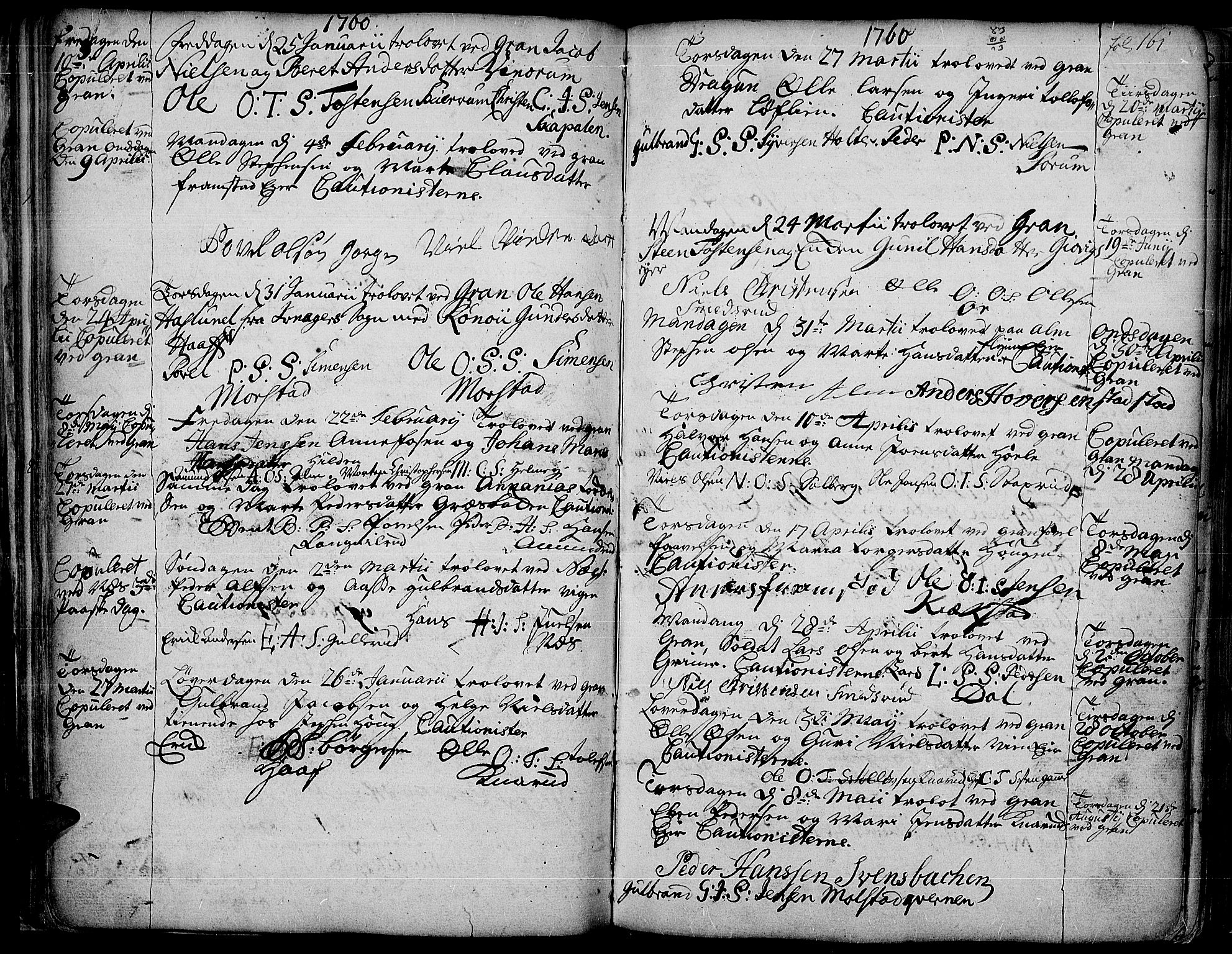 SAH, Gran prestekontor, Ministerialbok nr. 4, 1759-1775, s. 161