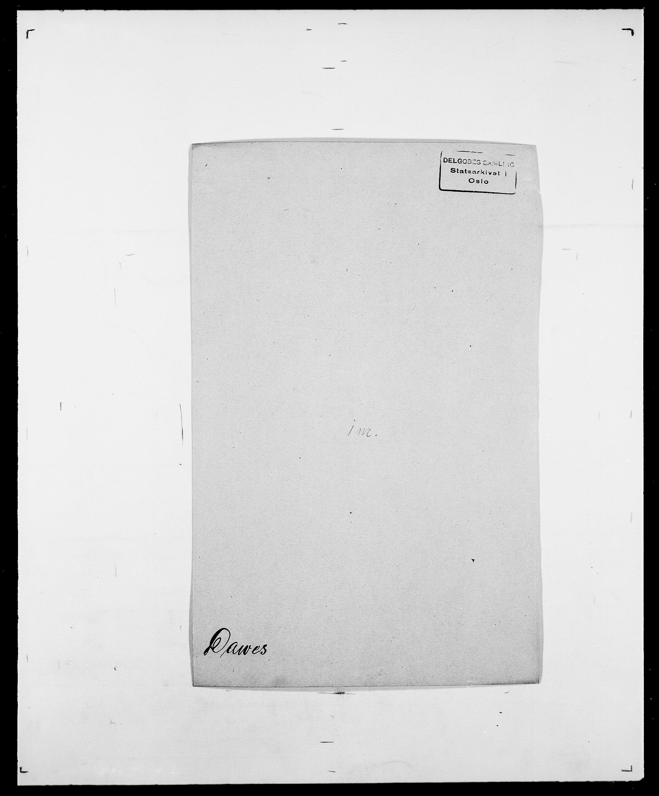 SAO, Delgobe, Charles Antoine - samling, D/Da/L0009: Dahl - v. Düren, s. 381