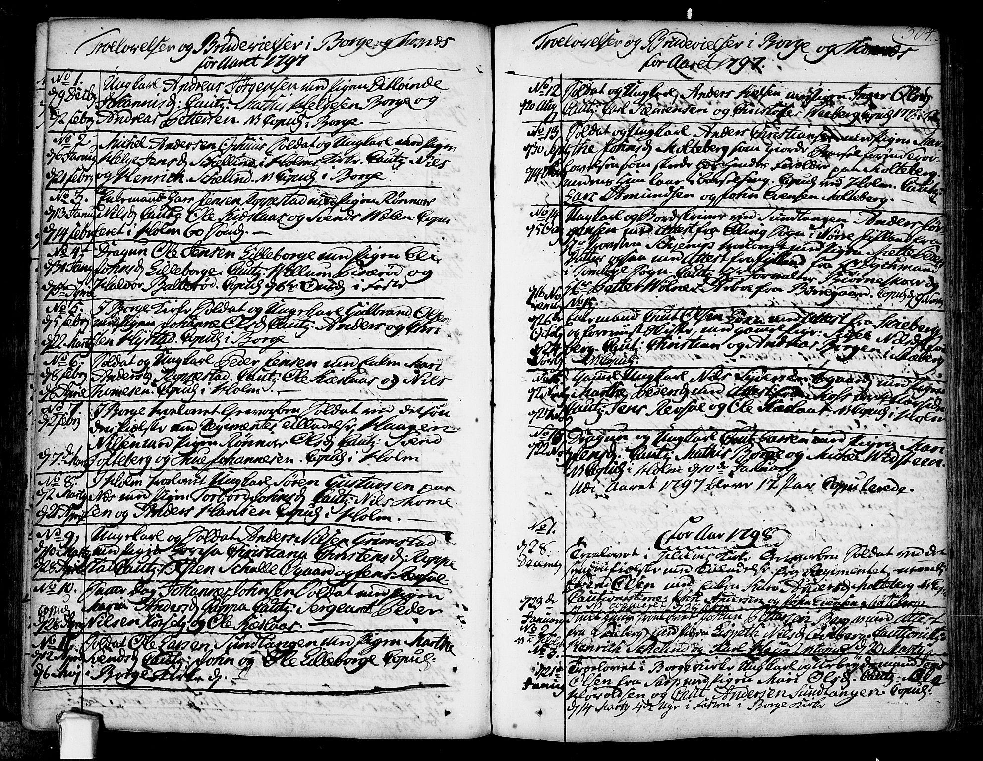 SAO, Borge prestekontor Kirkebøker, F/Fa/L0002: Ministerialbok nr. I 2, 1791-1817, s. 304