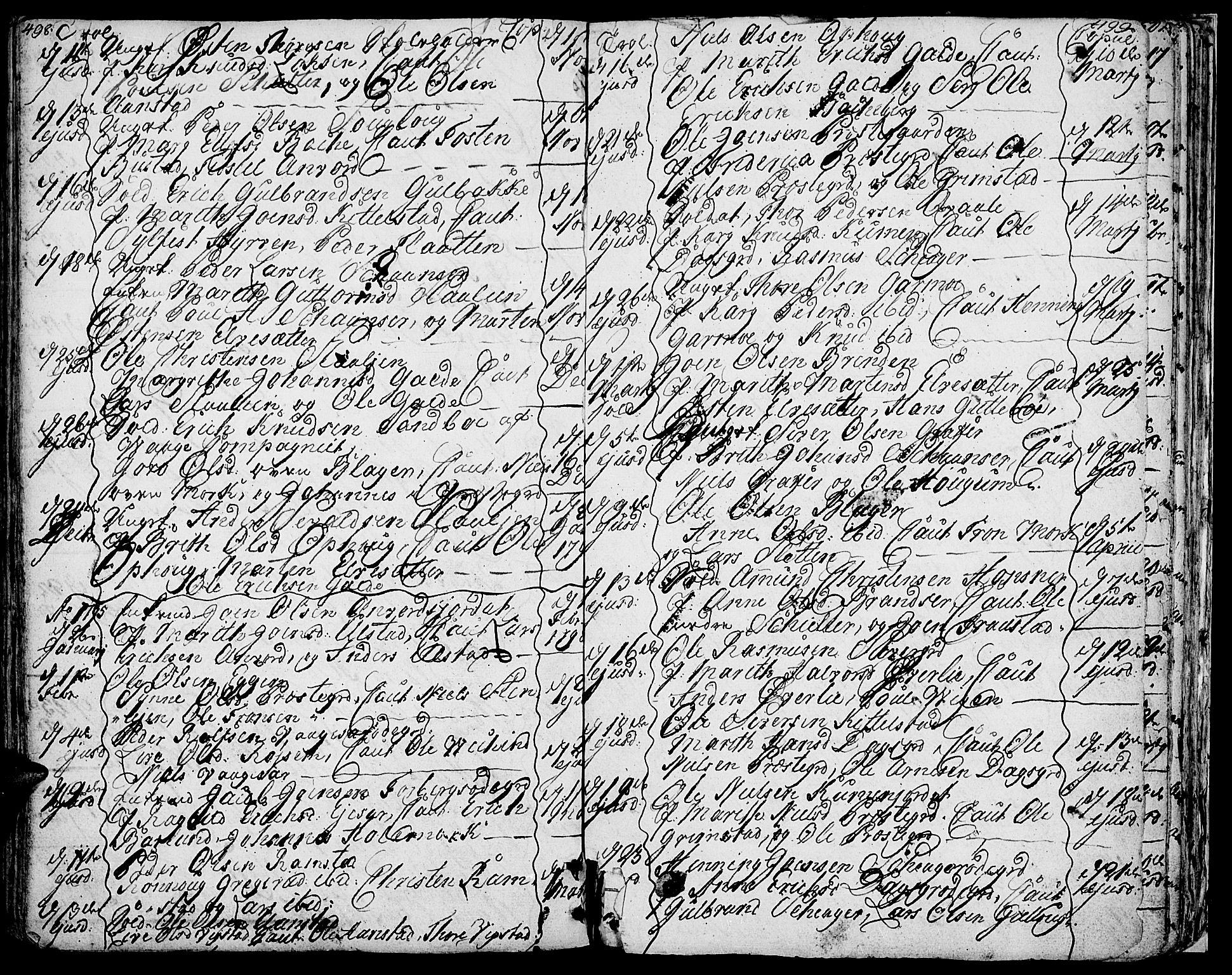 SAH, Lom prestekontor, K/L0002: Ministerialbok nr. 2, 1749-1801, s. 498-499