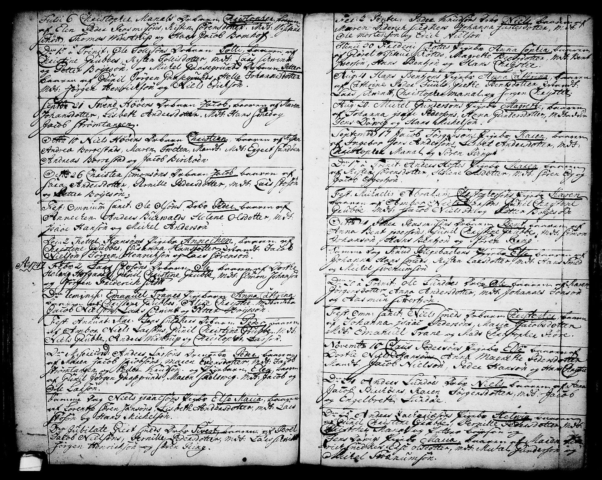 SAKO, Brevik kirkebøker, F/Fa/L0002: Ministerialbok nr. 2, 1720-1764, s. 34q