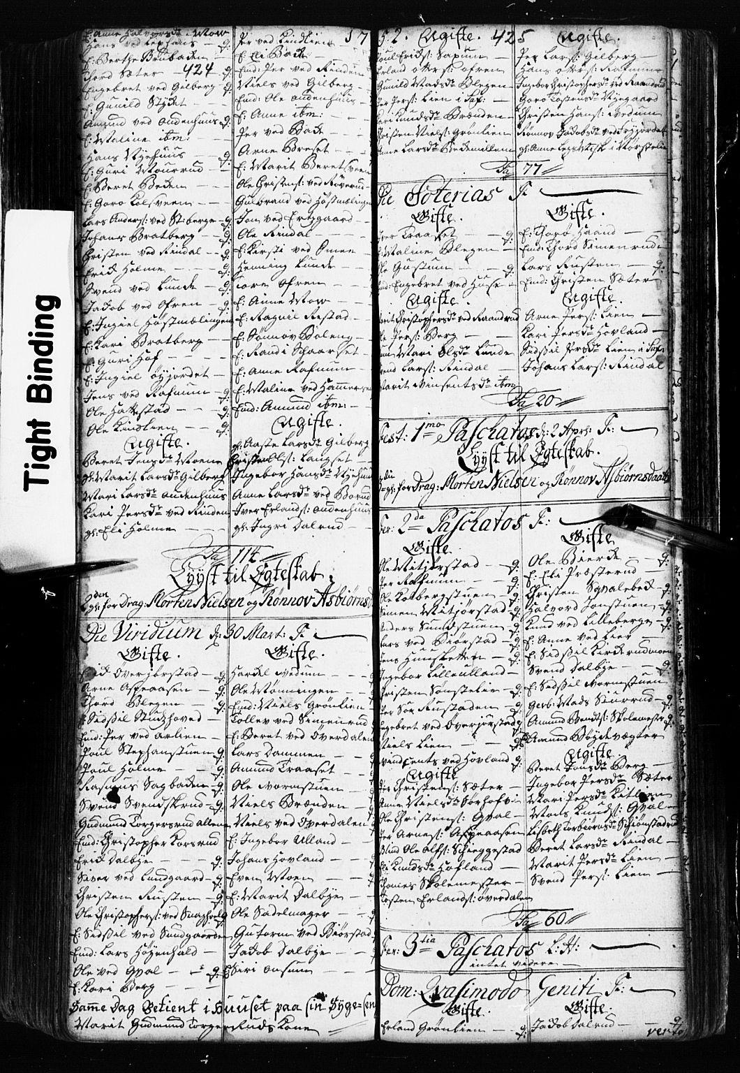 SAH, Fåberg prestekontor, Klokkerbok nr. 2, 1741-1756, s. 424-425