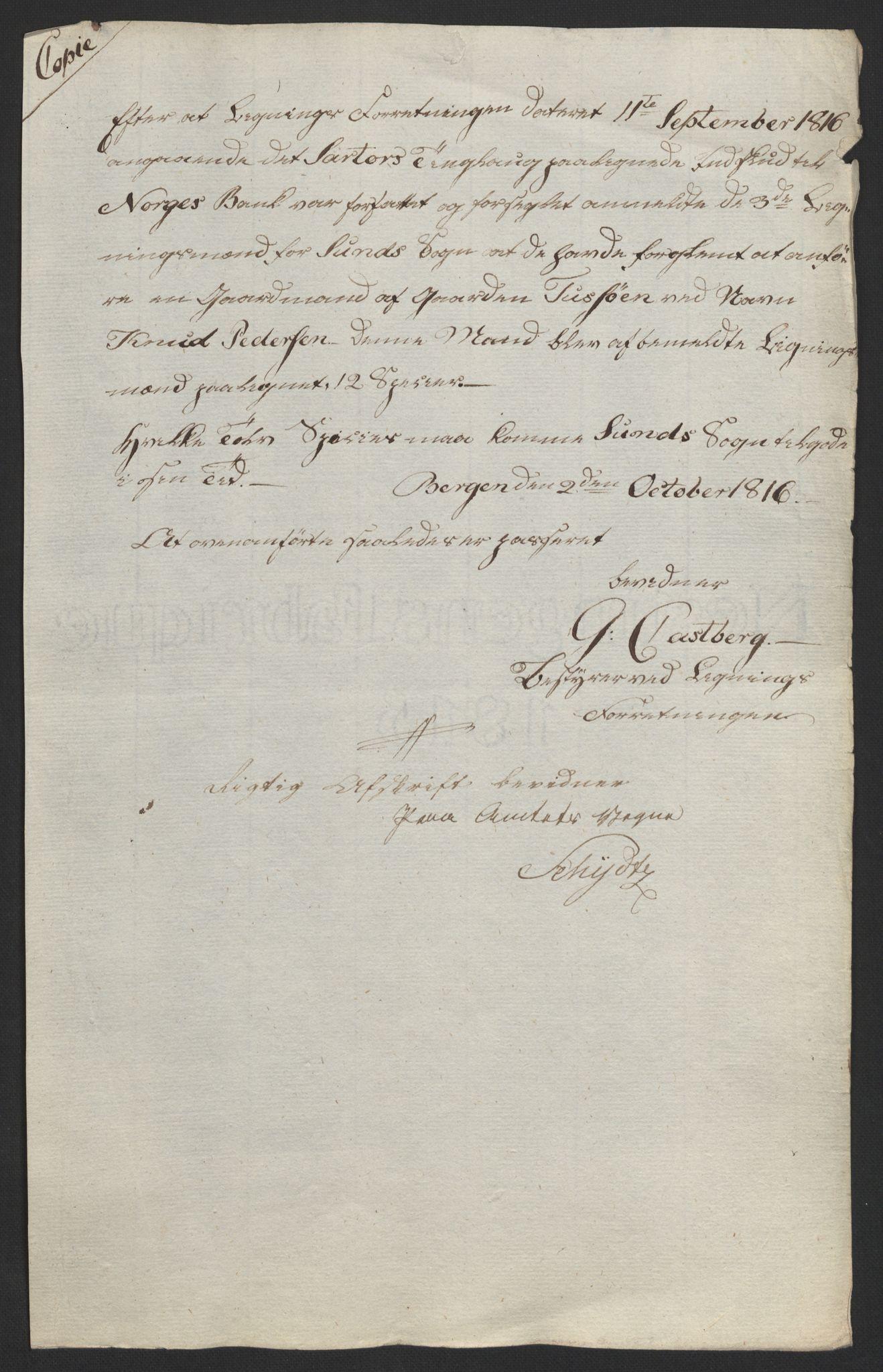 NOBA, Norges Bank/Sølvskatten 1816*, 1816-1824, s. 32