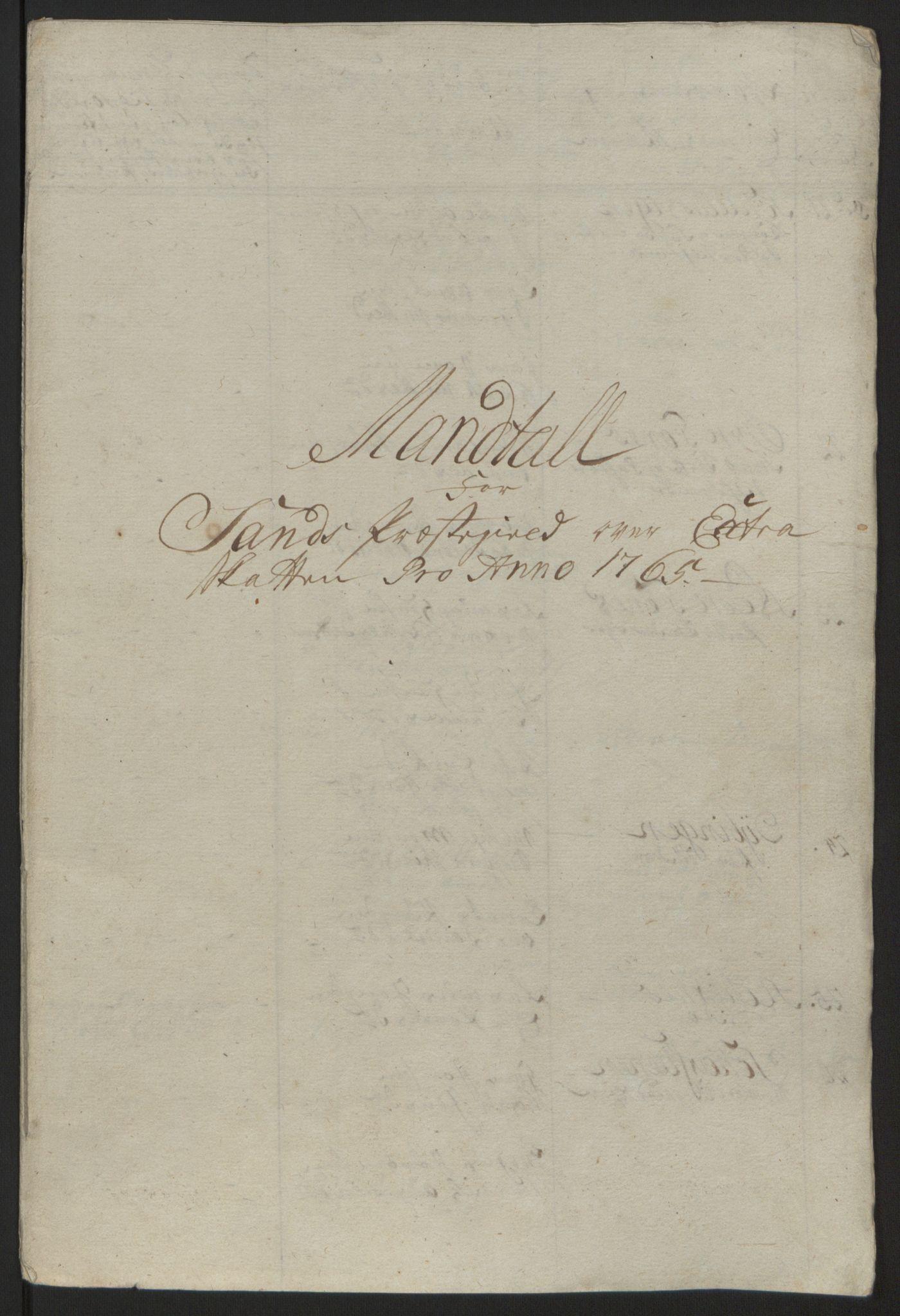 RA, Rentekammeret inntil 1814, Reviderte regnskaper, Fogderegnskap, R68/L4845: Ekstraskatten Senja og Troms, 1762-1765, s. 497