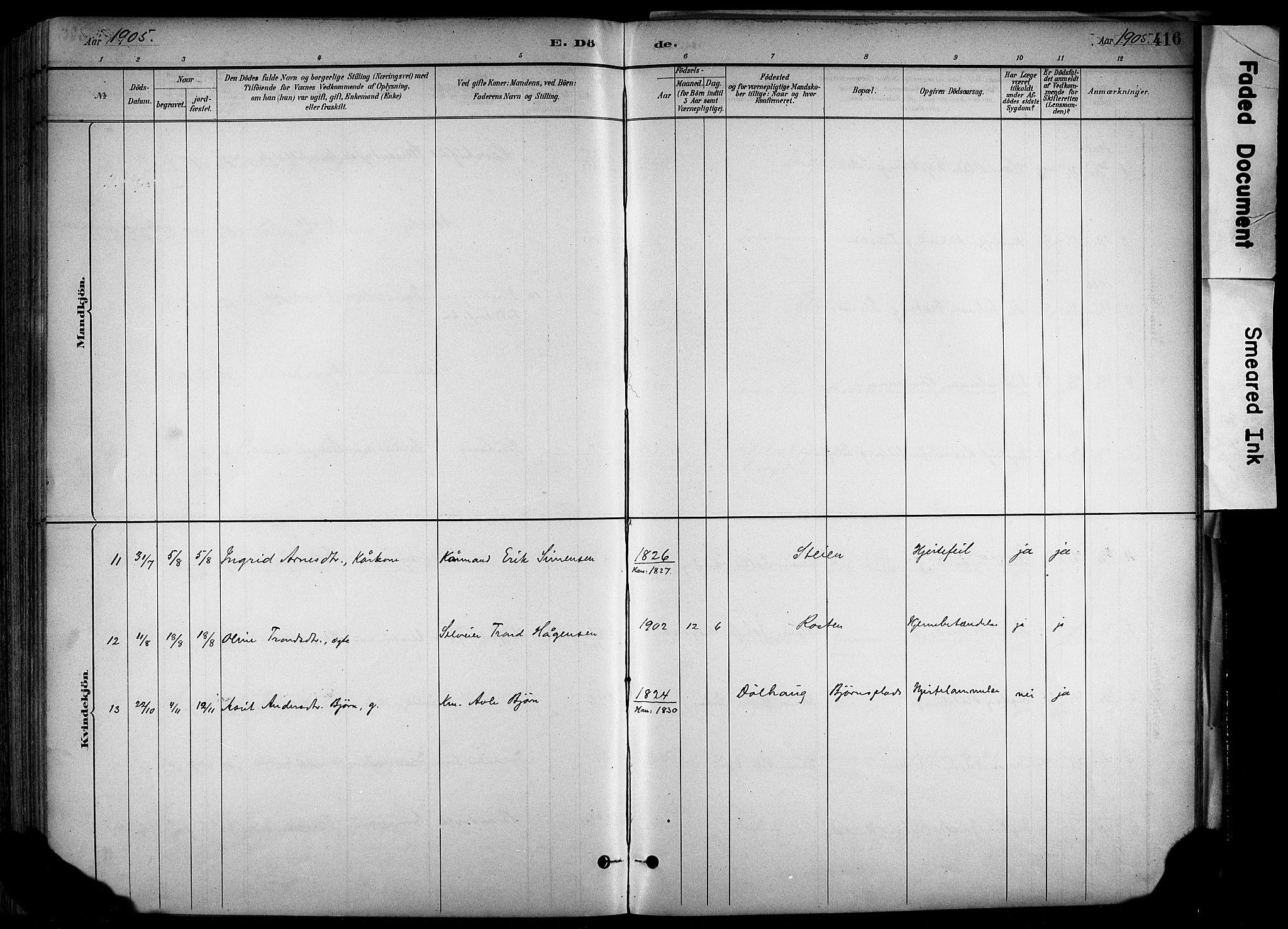SAH, Alvdal prestekontor, Ministerialbok nr. 2, 1883-1906, s. 416