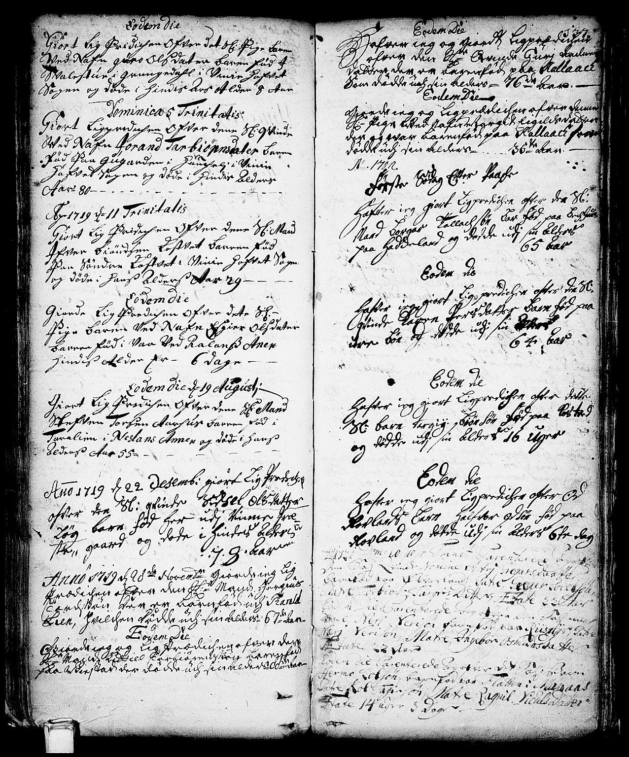 SAKO, Vinje kirkebøker, F/Fa/L0001: Ministerialbok nr. I 1, 1717-1766, s. 137