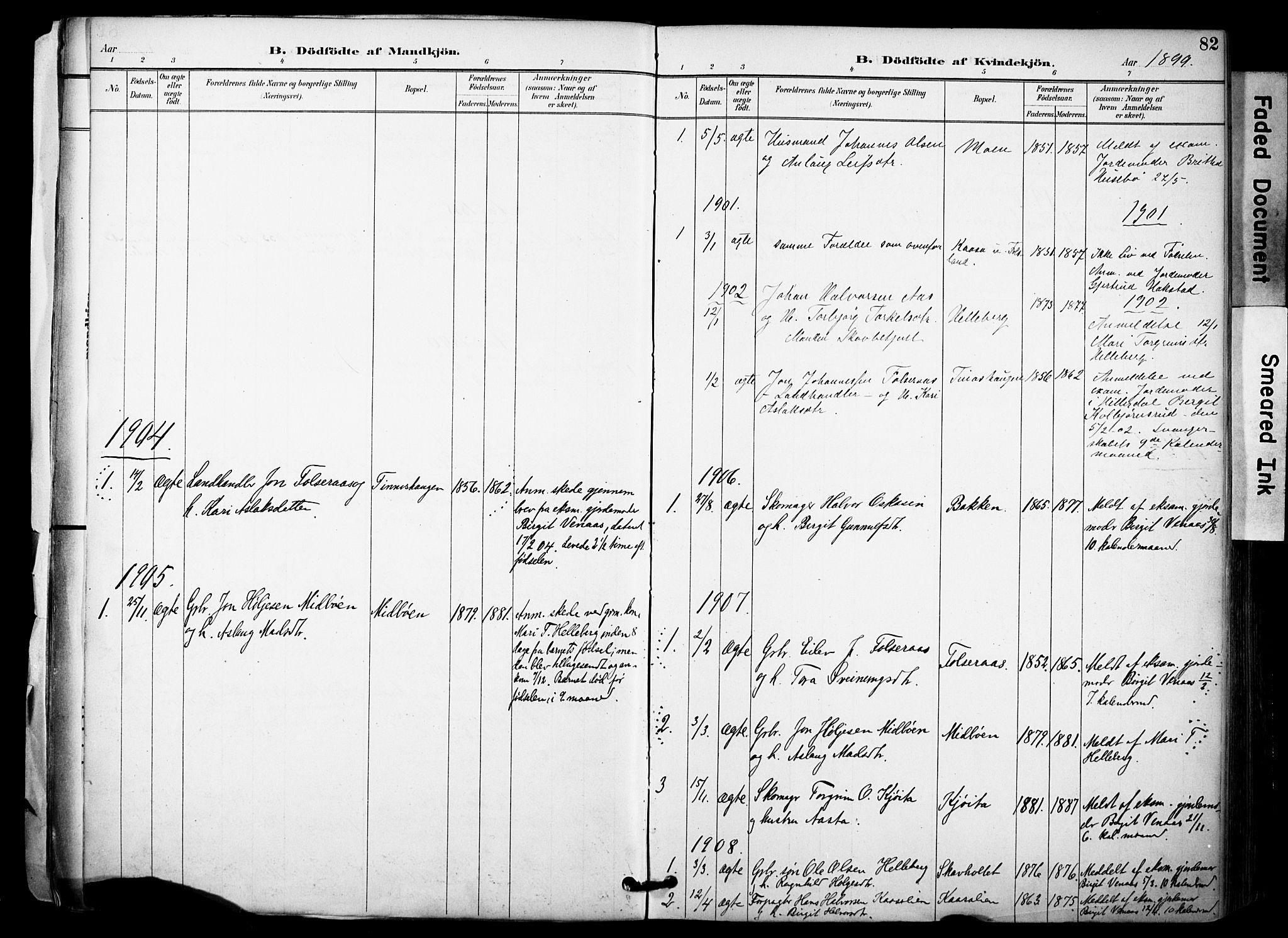 SAKO, Gransherad kirkebøker, F/Fa/L0005: Ministerialbok nr. I 5, 1887-1916, s. 82