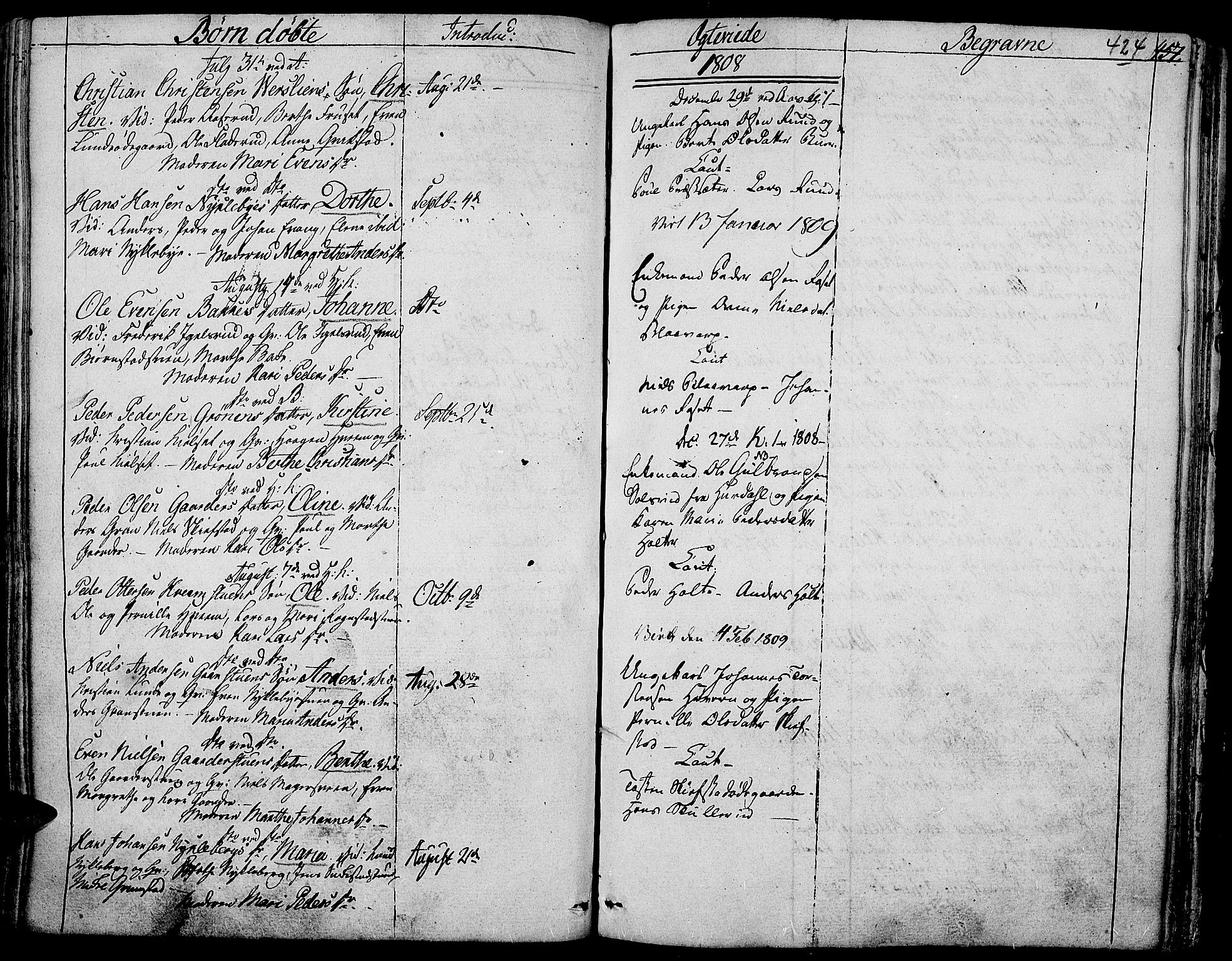 SAH, Toten prestekontor, Ministerialbok nr. 7, 1794-1809, s. 424