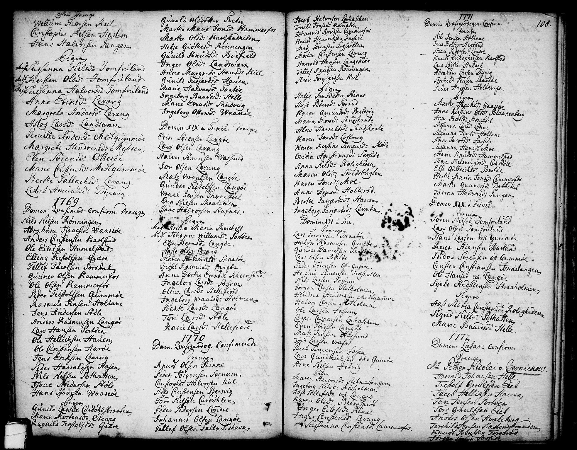 SAKO, Sannidal kirkebøker, F/Fa/L0002: Ministerialbok nr. 2, 1767-1802, s. 108