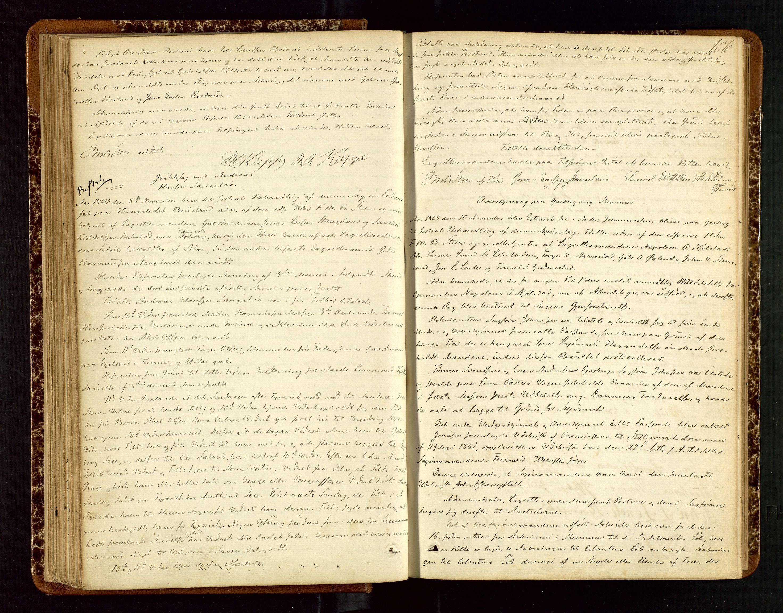 SAST, Jæren sorenskriveri, 3/30/30BB/L0002: Ekstrarettsprotokoll 10, 1862-1872, s. 105b-106a