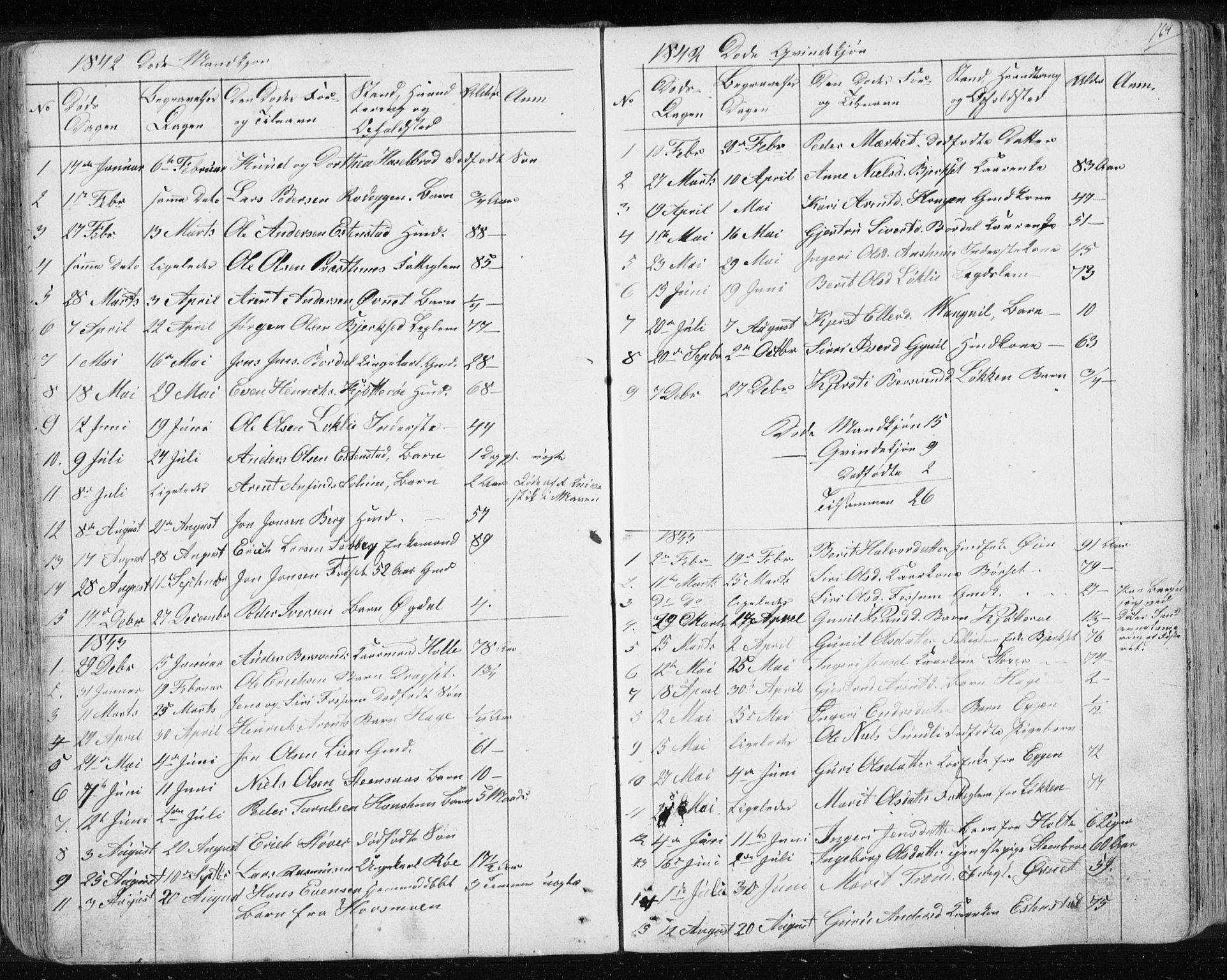 SAT, Ministerialprotokoller, klokkerbøker og fødselsregistre - Sør-Trøndelag, 689/L1043: Klokkerbok nr. 689C02, 1816-1892, s. 164