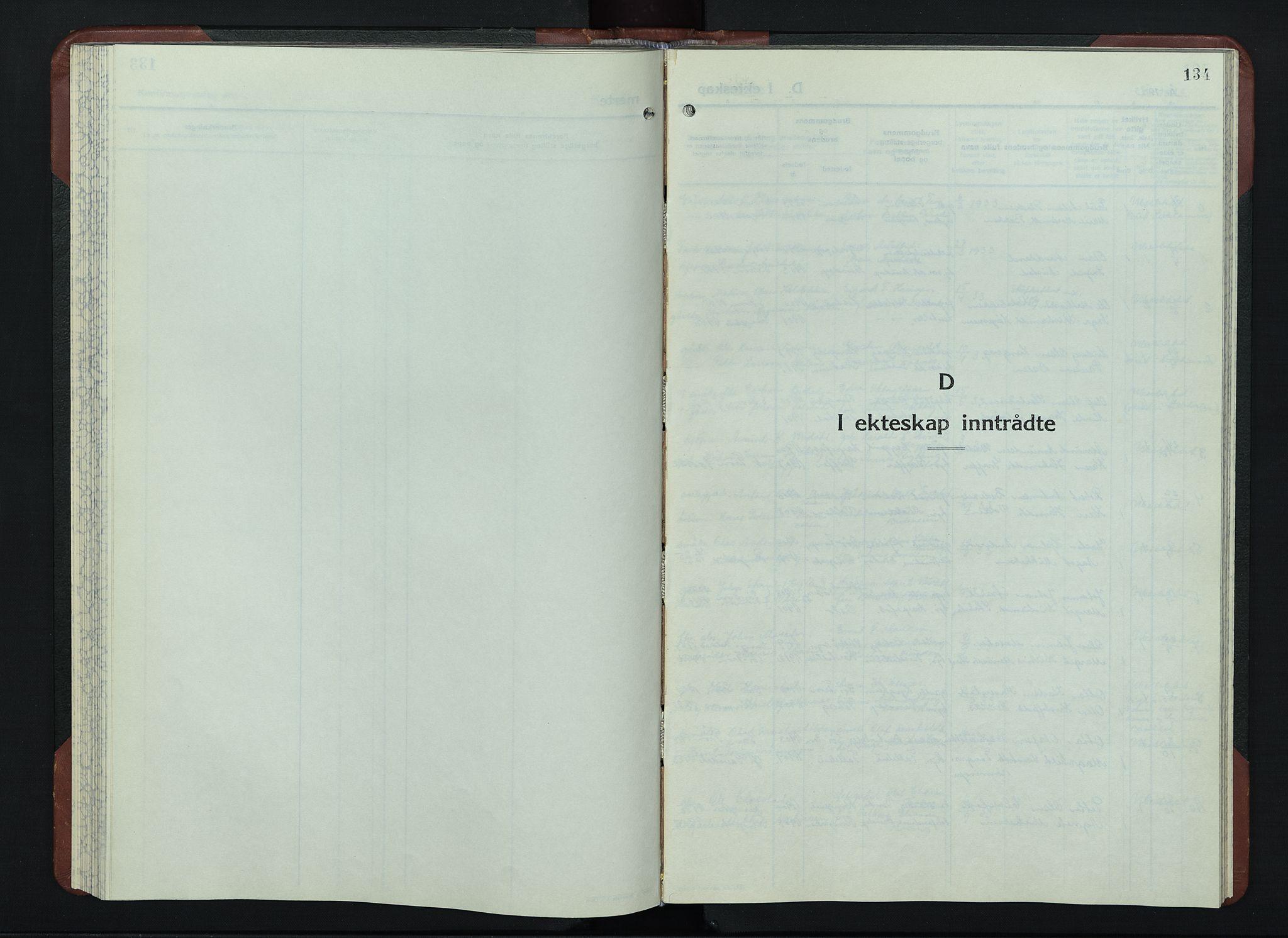 SAH, Sør-Fron prestekontor, H/Ha/Hab/L0006: Klokkerbok nr. 6, 1933-1948, s. 134