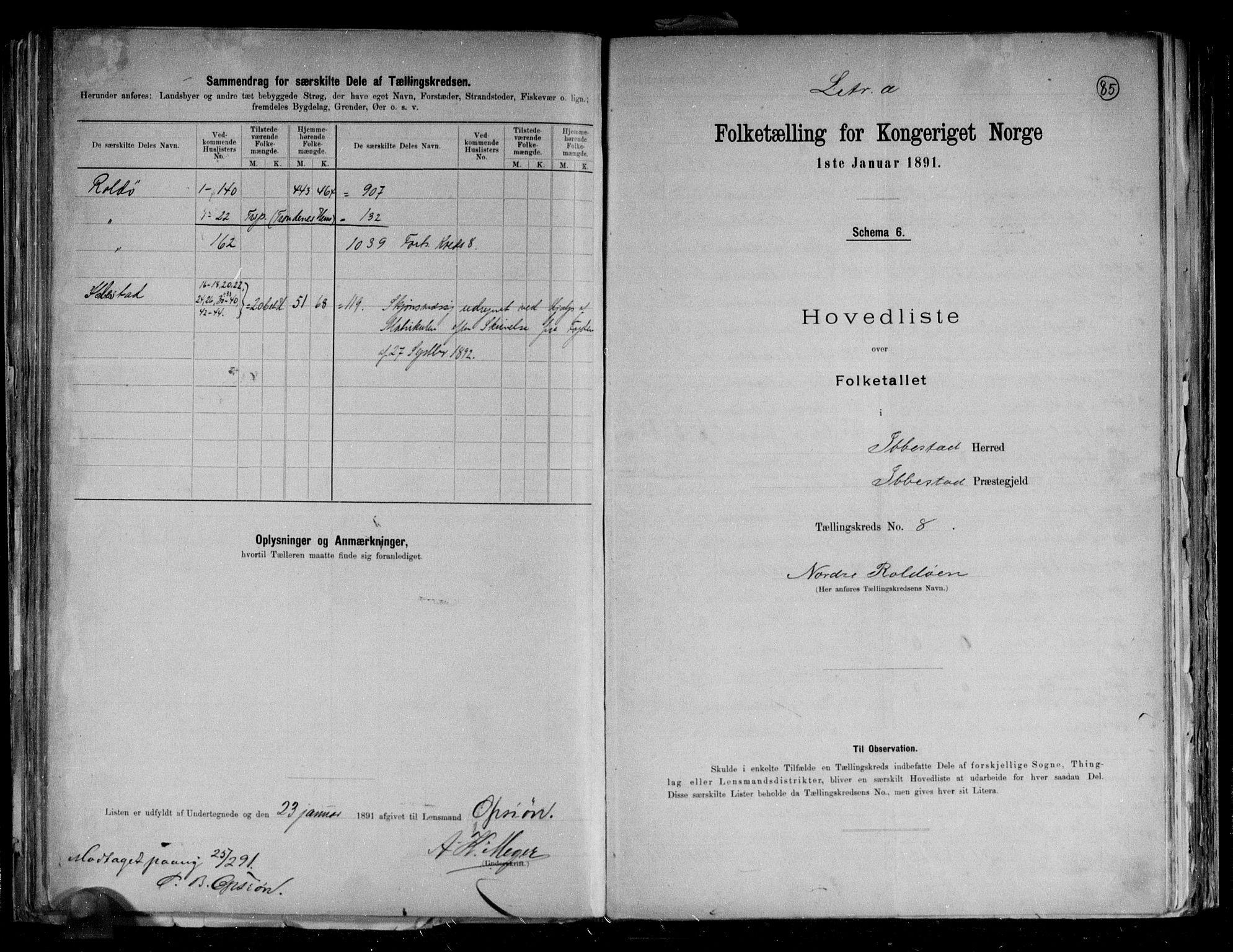 RA, Folketelling 1891 for 1917 Ibestad herred, 1891, s. 21