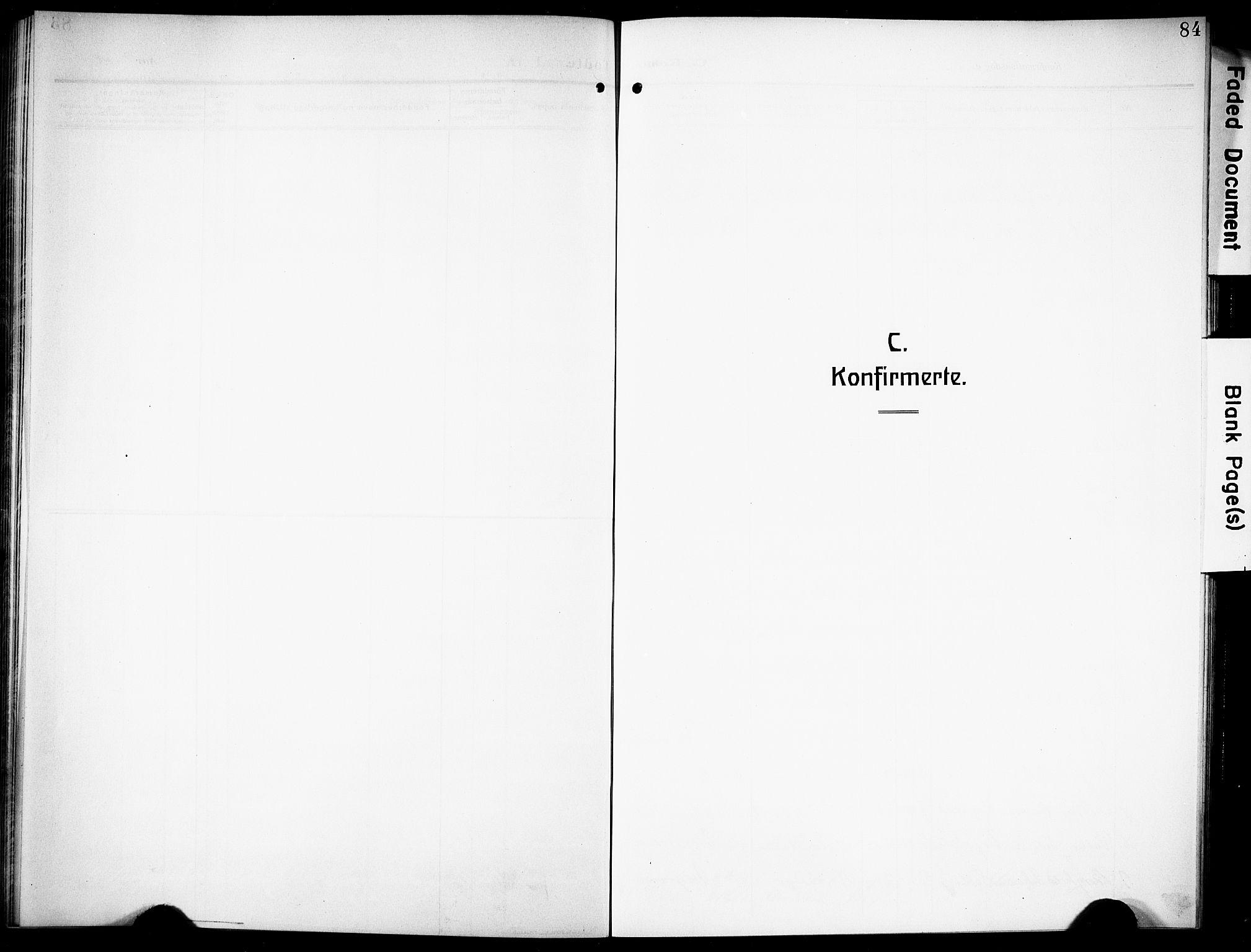 SAKO, Siljan kirkebøker, G/Ga/L0003: Klokkerbok nr. 3, 1909-1927, s. 84