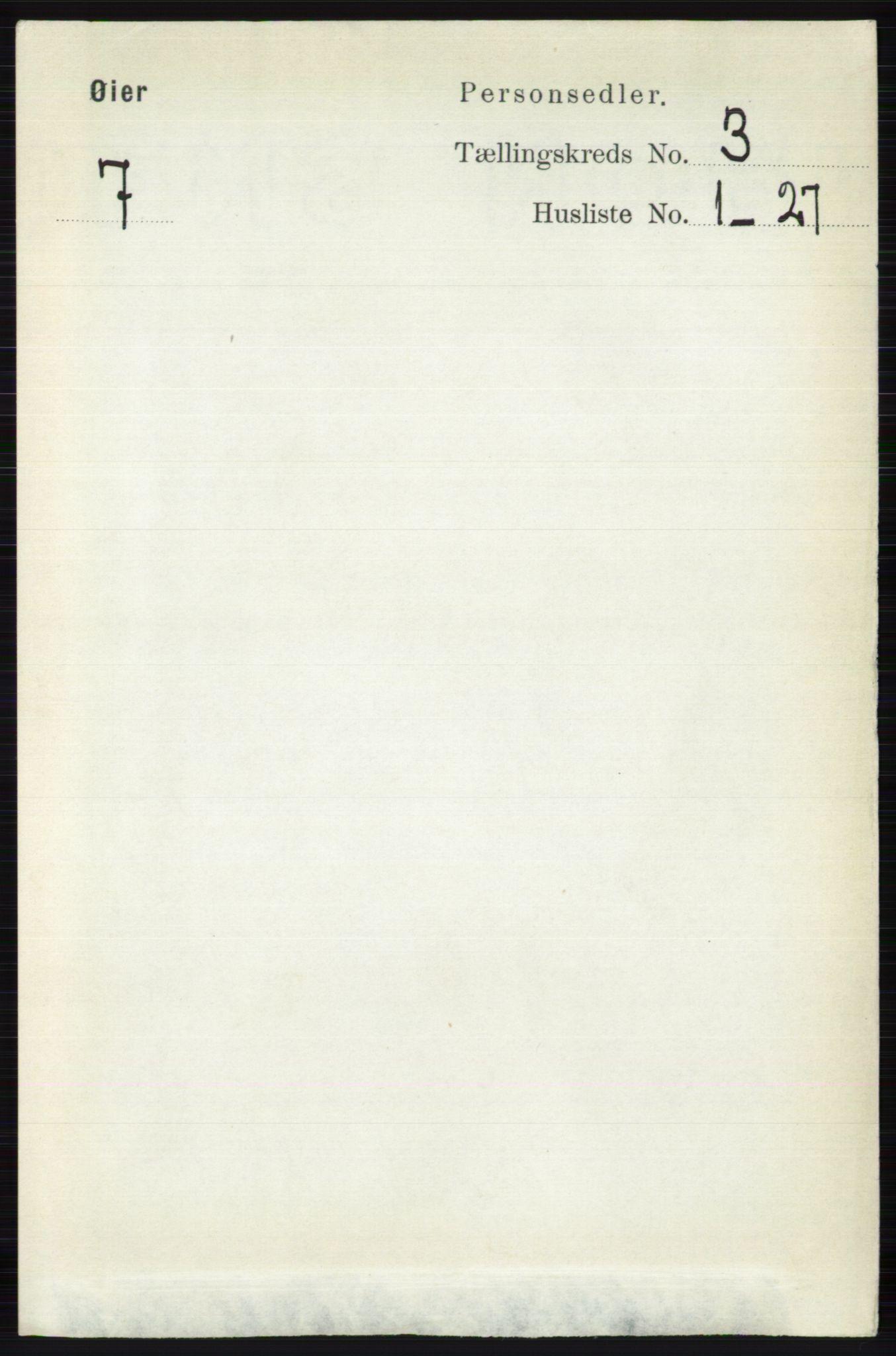 RA, Folketelling 1891 for 0521 Øyer herred, 1891, s. 717