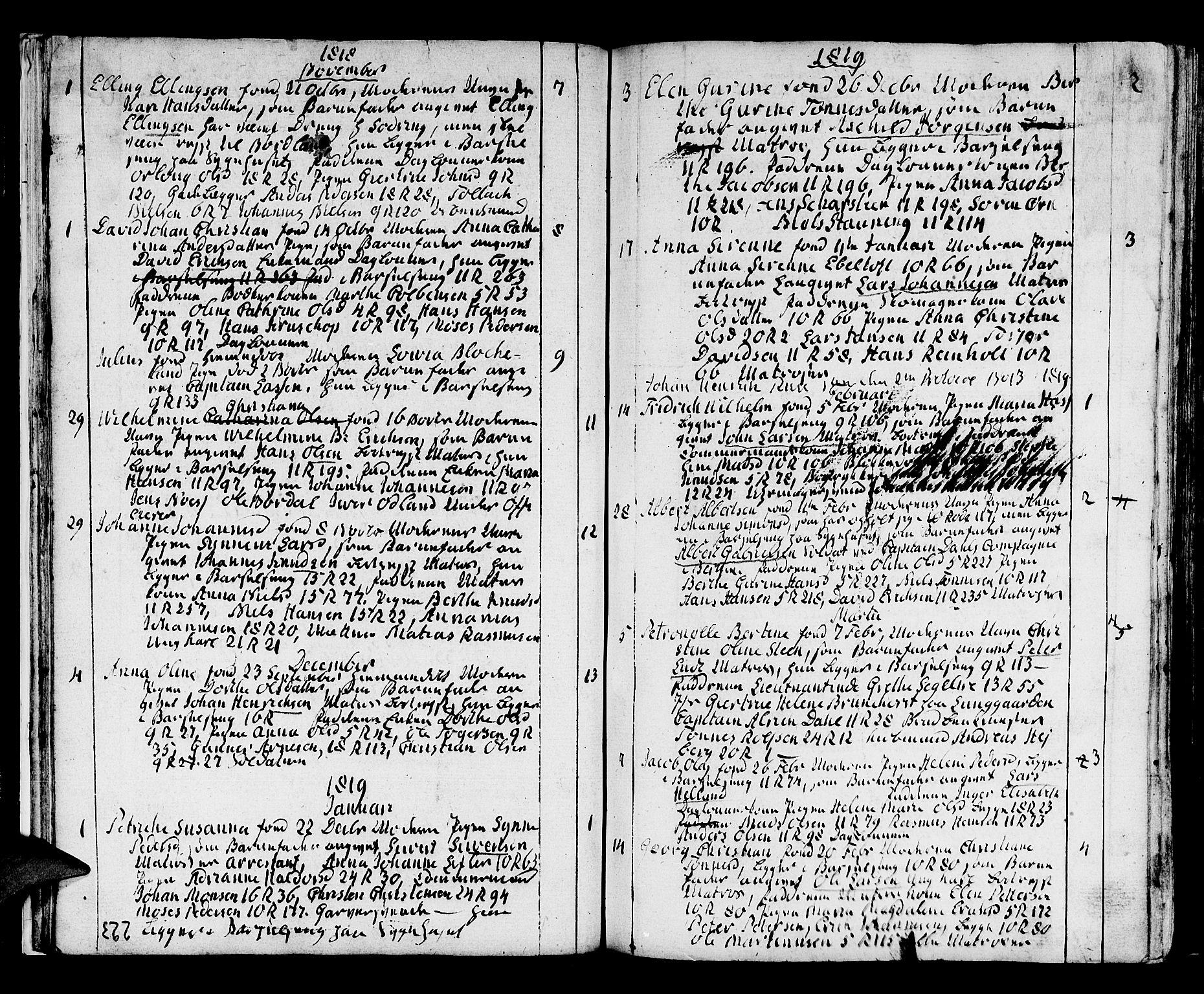 SAB, Domkirken Sokneprestembete, H/Haa/L0005: Ministerialbok nr. A 5, 1808-1820, s. 222-223