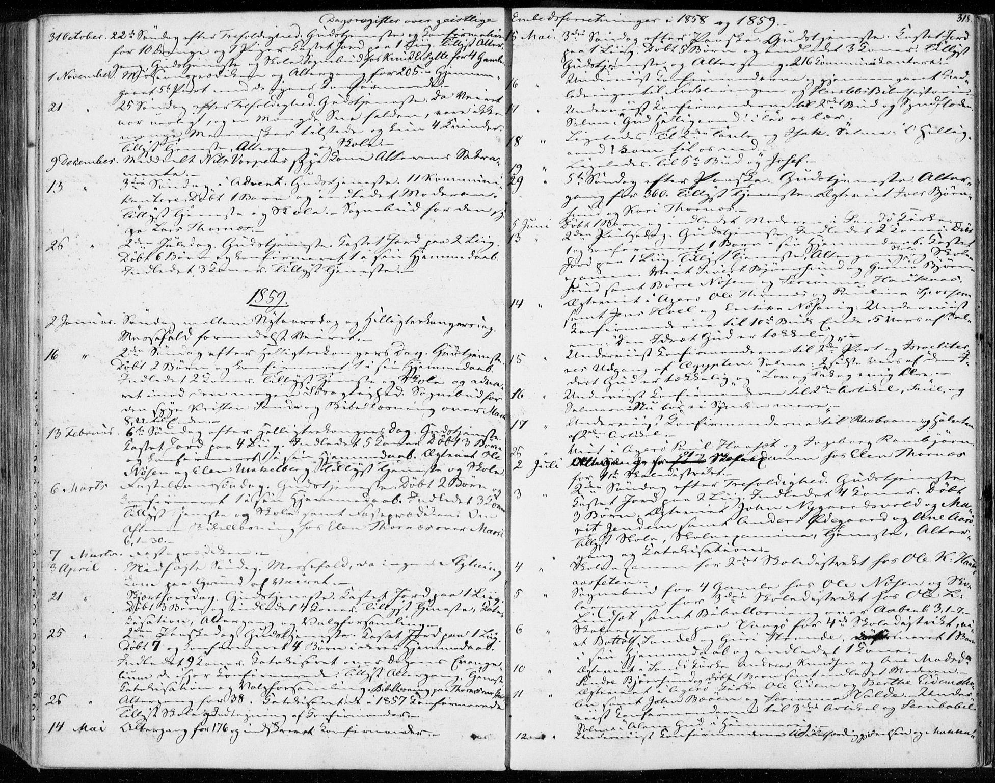 SAT, Ministerialprotokoller, klokkerbøker og fødselsregistre - Møre og Romsdal, 565/L0748: Ministerialbok nr. 565A02, 1845-1872, s. 318