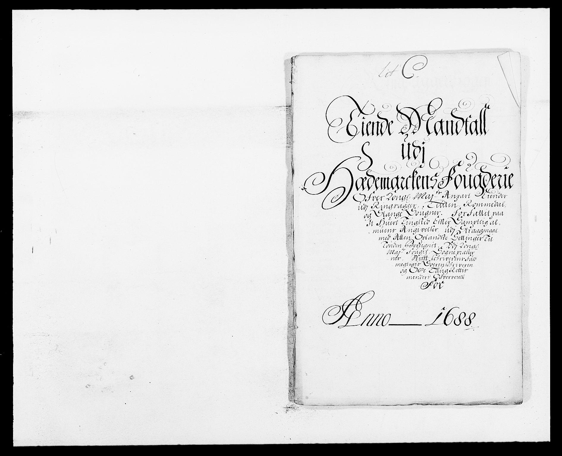 RA, Rentekammeret inntil 1814, Reviderte regnskaper, Fogderegnskap, R16/L1029: Fogderegnskap Hedmark, 1688, s. 229