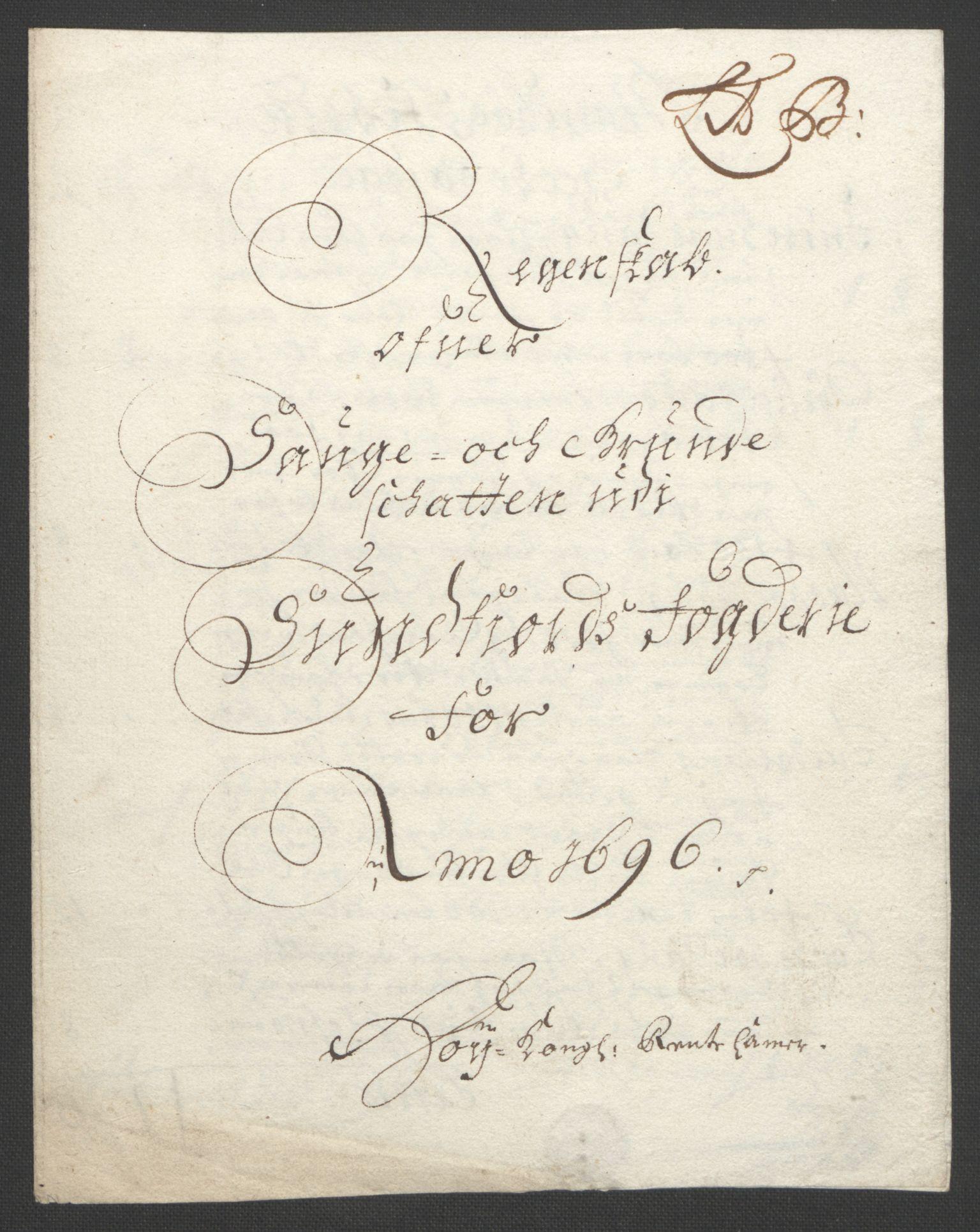 RA, Rentekammeret inntil 1814, Reviderte regnskaper, Fogderegnskap, R53/L3422: Fogderegnskap Sunn- og Nordfjord, 1695-1696, s. 273