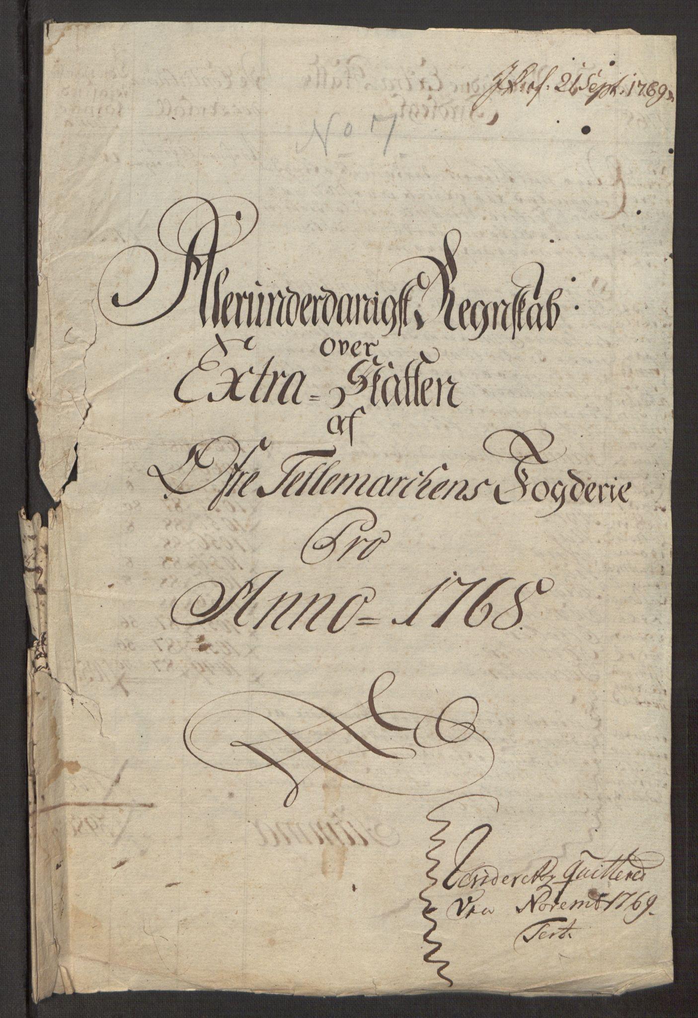 RA, Rentekammeret inntil 1814, Reviderte regnskaper, Fogderegnskap, R38/L2293: Ekstraskatten Øvre Telemark, 1762-1770, s. 102