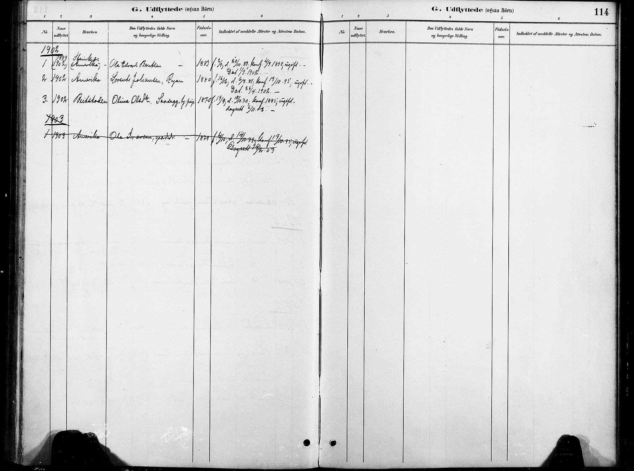 SAT, Ministerialprotokoller, klokkerbøker og fødselsregistre - Nord-Trøndelag, 738/L0364: Ministerialbok nr. 738A01, 1884-1902, s. 114