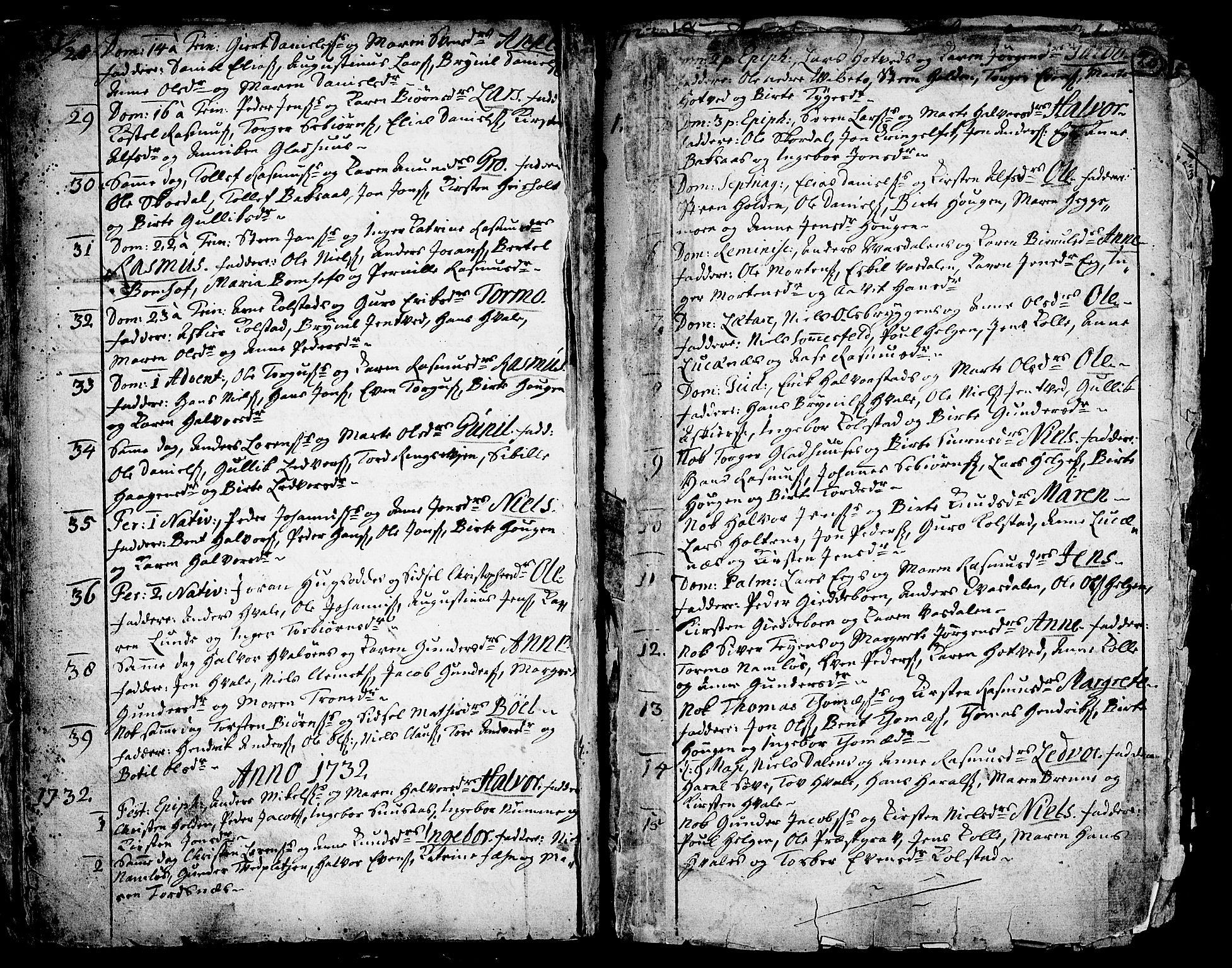 SAKO, Holla kirkebøker, F/Fa/L0001: Ministerialbok nr. 1, 1717-1779, s. 20