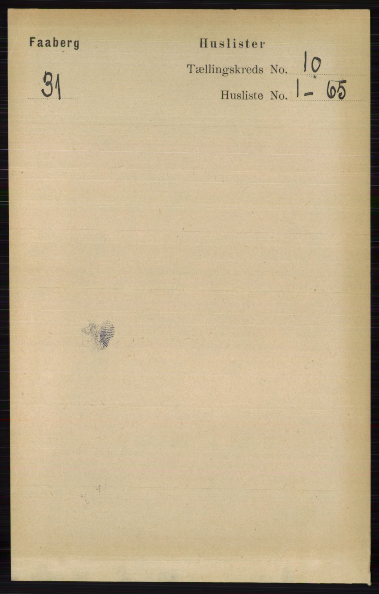 RA, Folketelling 1891 for 0524 Fåberg herred, 1891, s. 4038