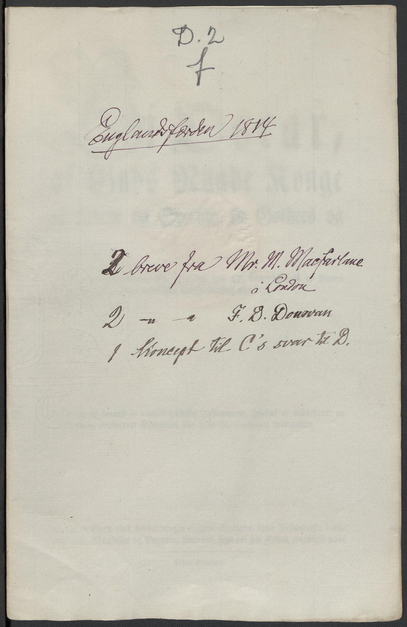 RA, Christie, Wilhelm Frimann Koren, F/L0004, 1814, s. 180