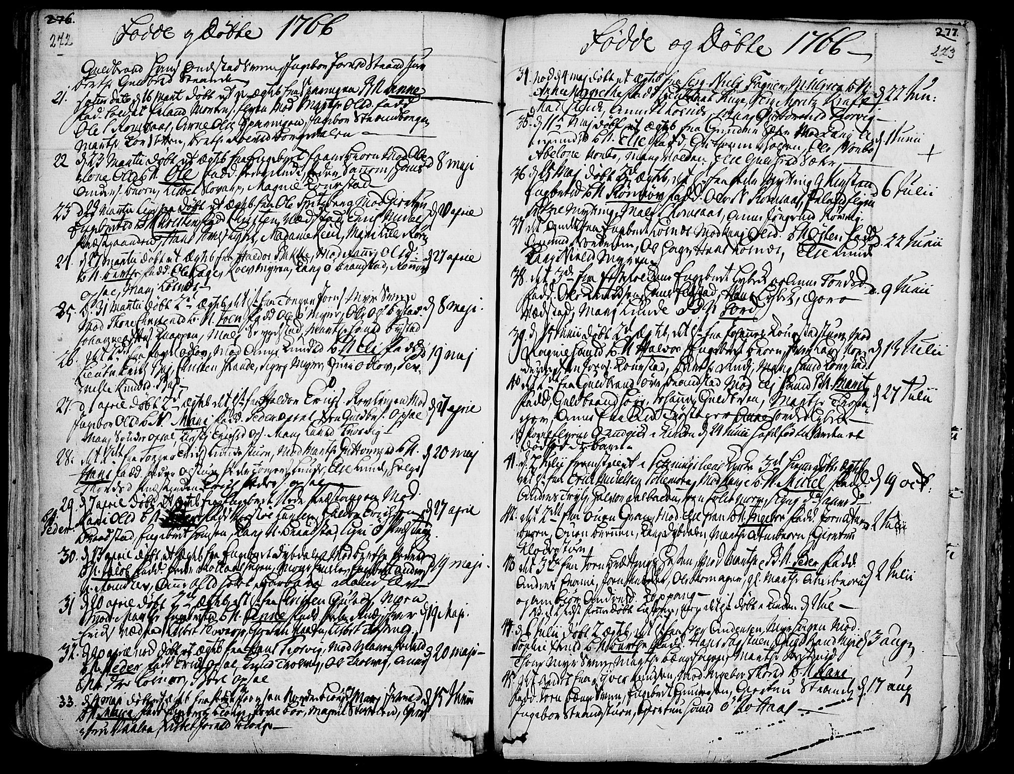 SAH, Ringebu prestekontor, Ministerialbok nr. 2, 1734-1780, s. 272-273