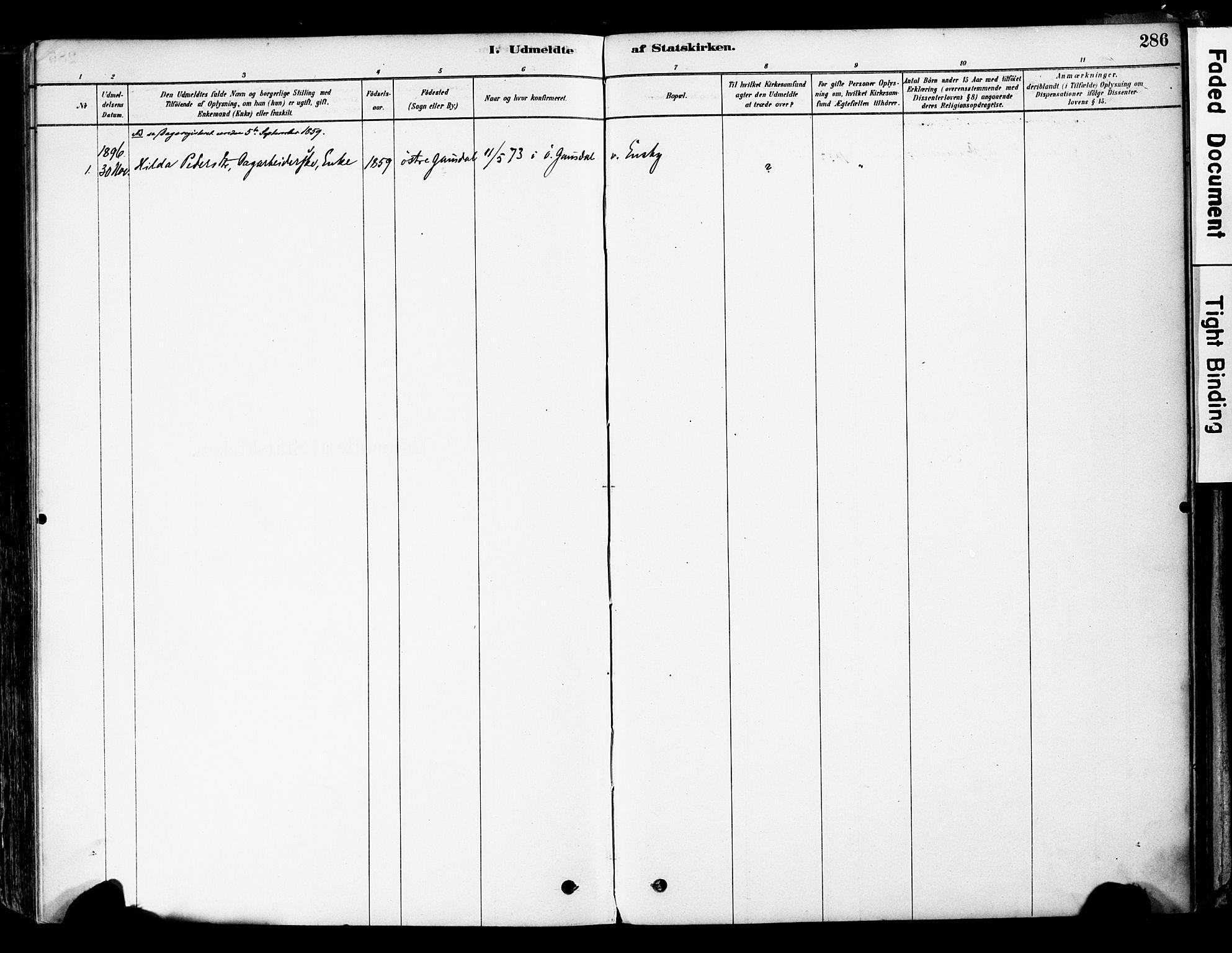 SAH, Øyer prestekontor, Ministerialbok nr. 8, 1878-1897, s. 286
