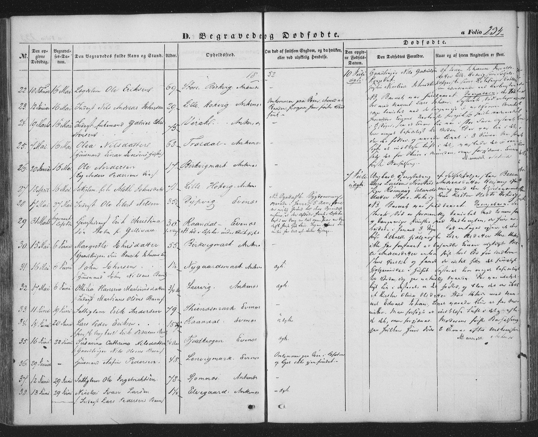 SAT, Ministerialprotokoller, klokkerbøker og fødselsregistre - Nordland, 863/L0895: Ministerialbok nr. 863A07, 1851-1860, s. 234