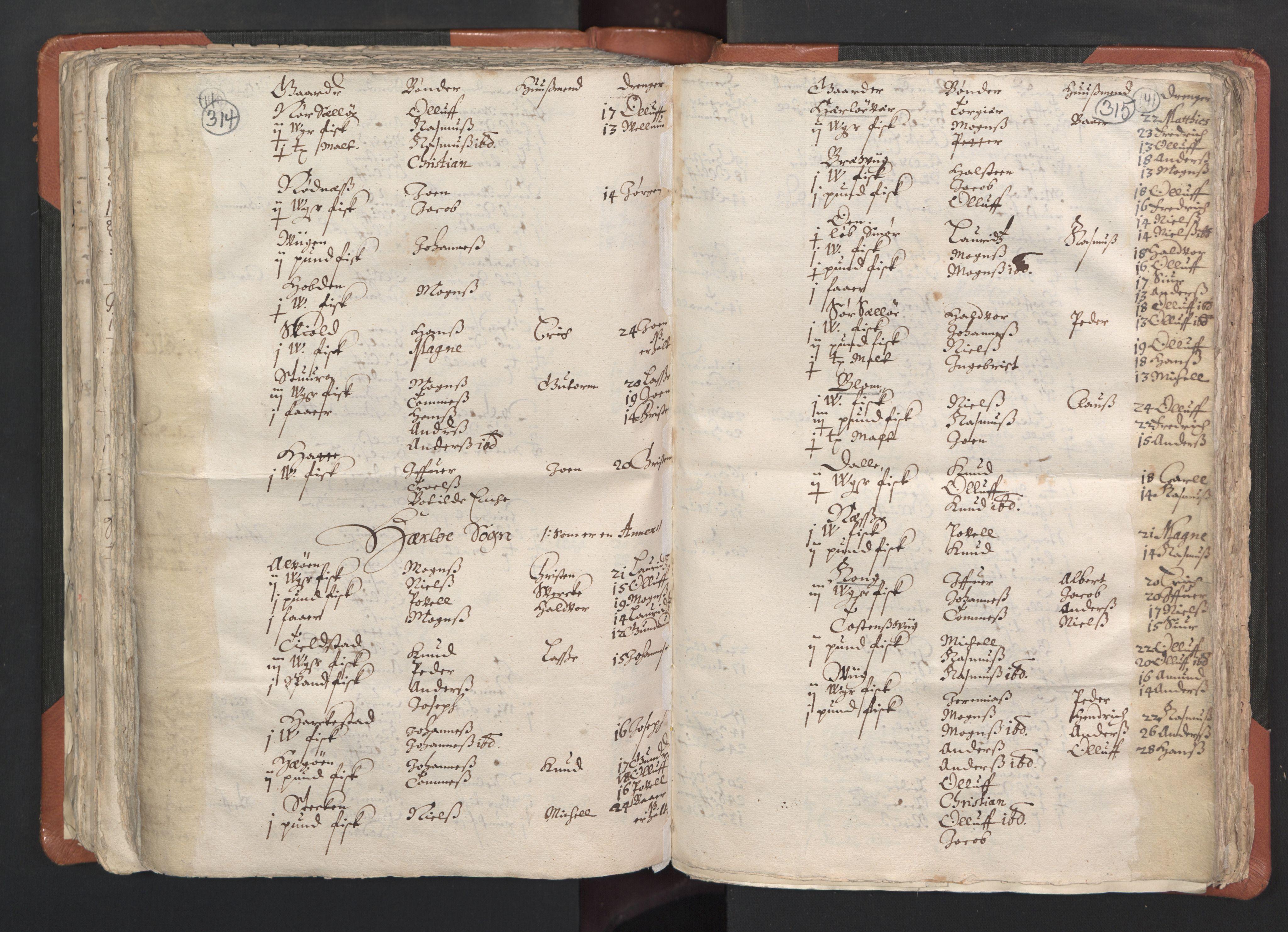 RA, Sogneprestenes manntall 1664-1666, nr. 22: Nordhordland prosti, 1664-1666, s. 314-315