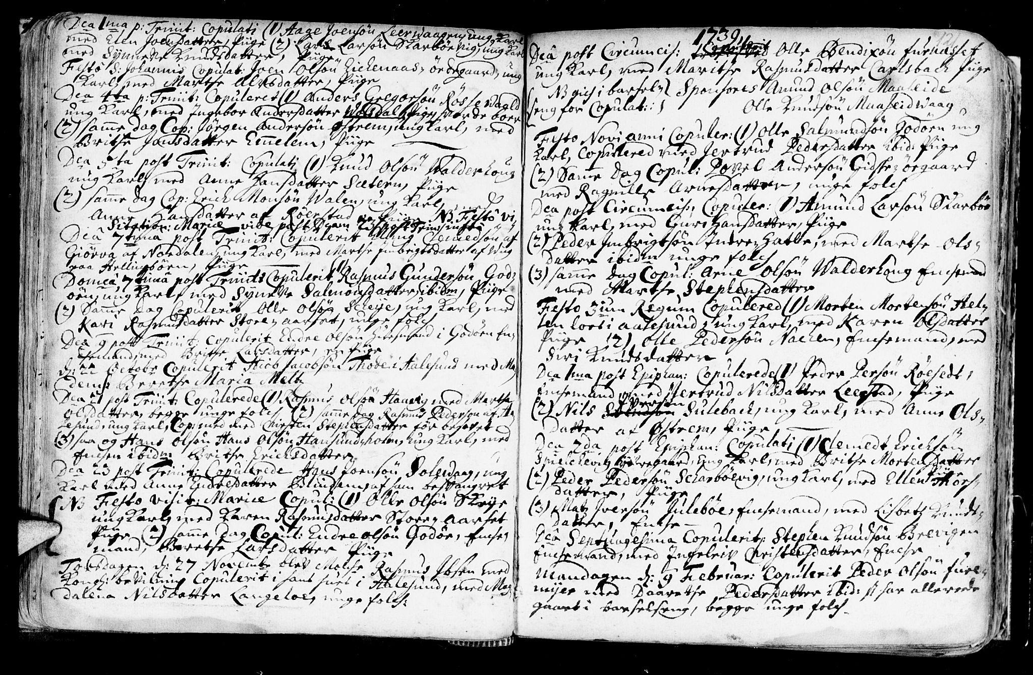 SAT, Ministerialprotokoller, klokkerbøker og fødselsregistre - Møre og Romsdal, 528/L0390: Ministerialbok nr. 528A01, 1698-1739, s. 120-121