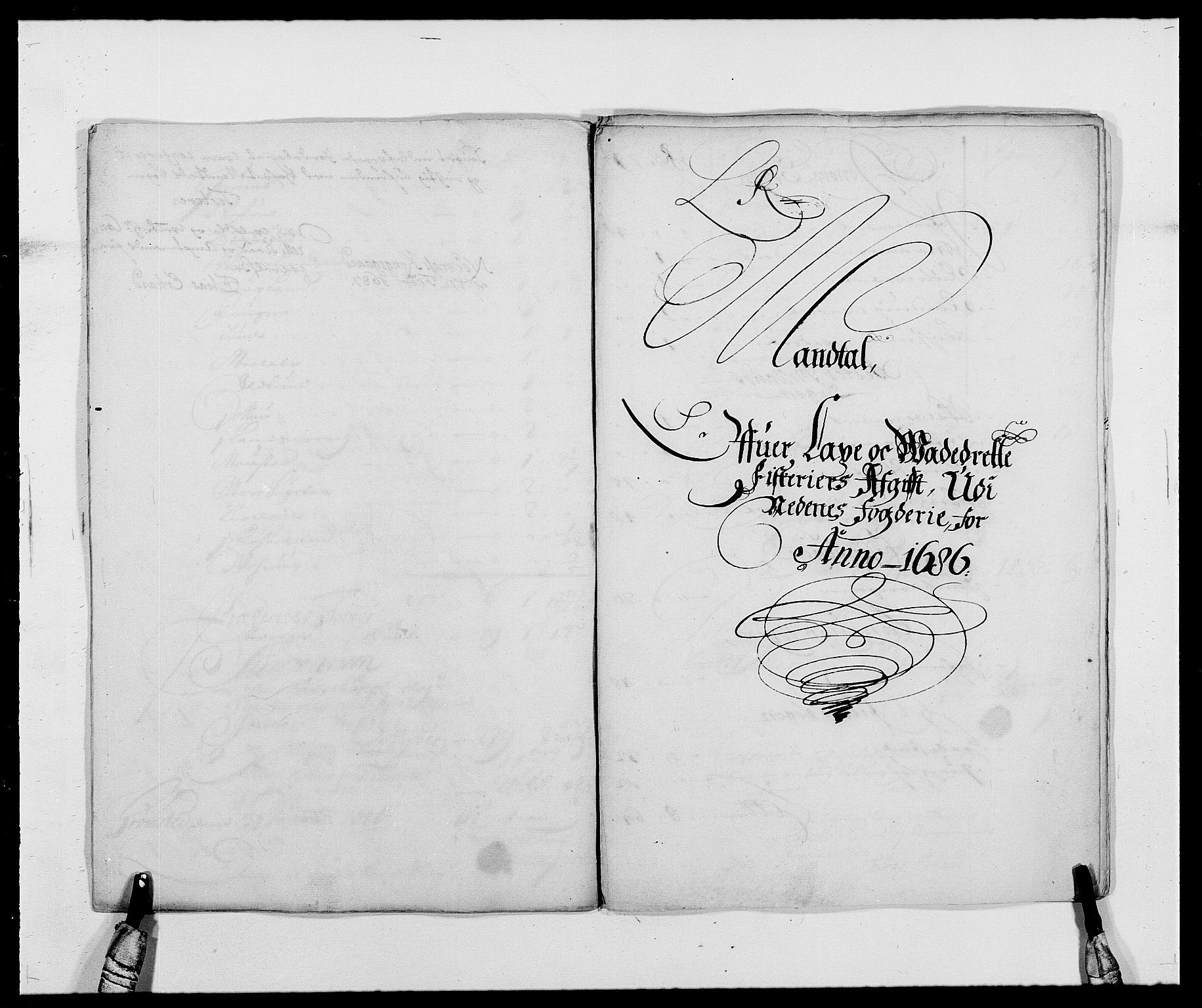 RA, Rentekammeret inntil 1814, Reviderte regnskaper, Fogderegnskap, R39/L2308: Fogderegnskap Nedenes, 1684-1689, s. 339