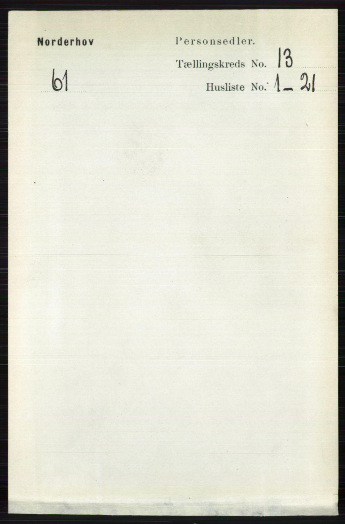 RA, Folketelling 1891 for 0613 Norderhov herred, 1891, s. 8879
