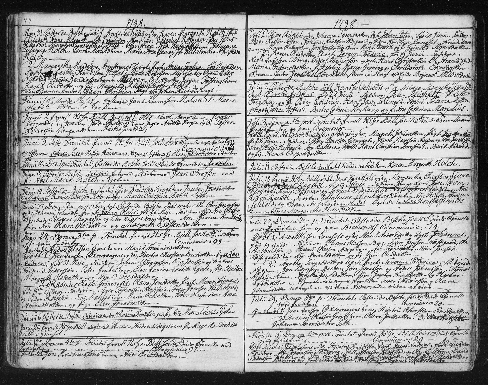 SAT, Ministerialprotokoller, klokkerbøker og fødselsregistre - Møre og Romsdal, 572/L0841: Ministerialbok nr. 572A04, 1784-1819, s. 77