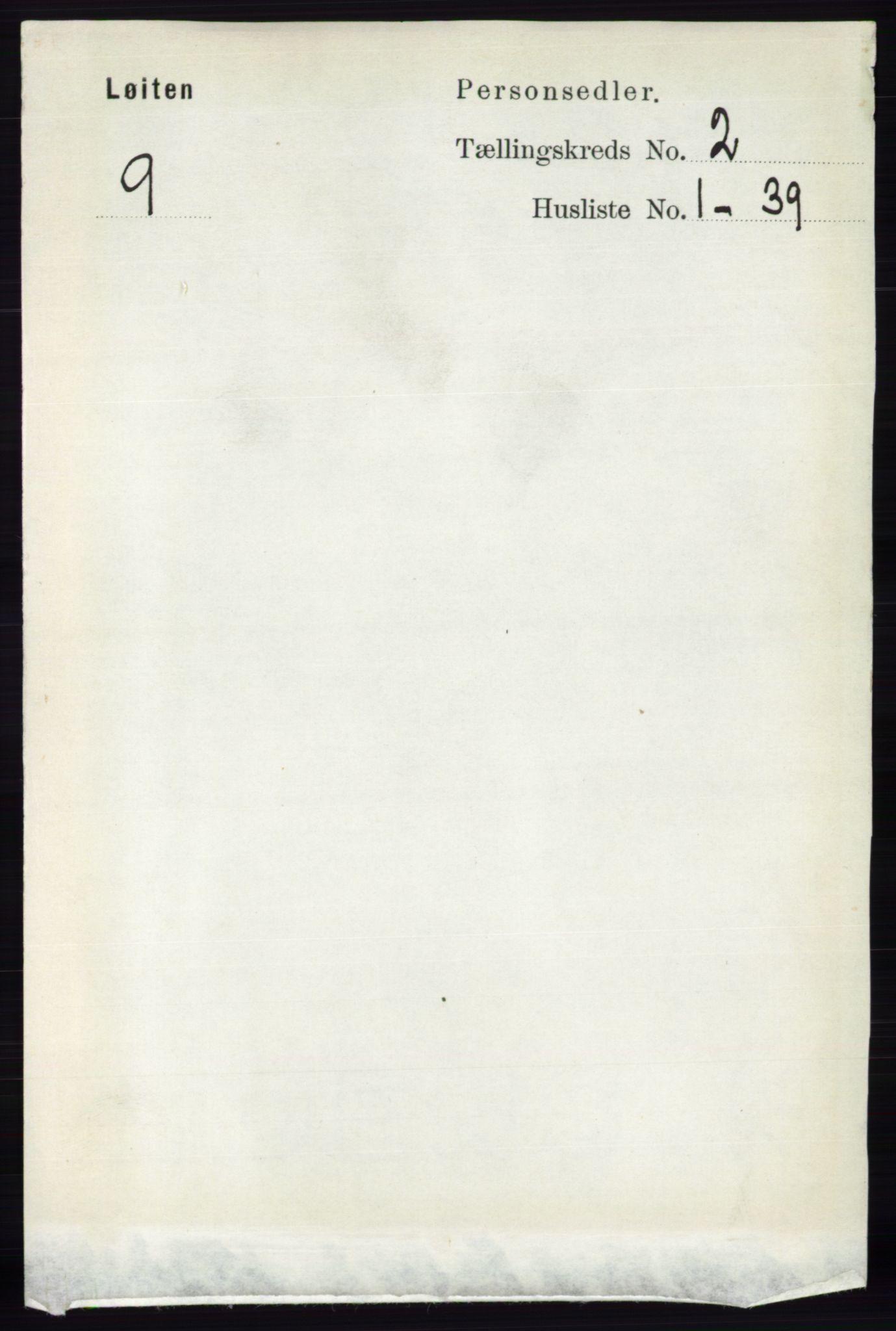 RA, Folketelling 1891 for 0415 Løten herred, 1891, s. 1484