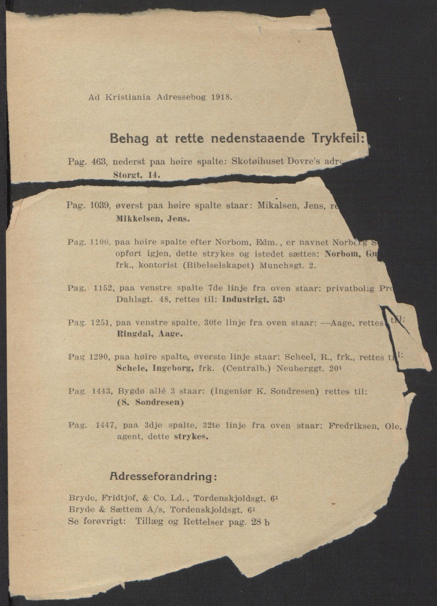 PUBL, Kristiania/Oslo adressebok, 1918, s. 3