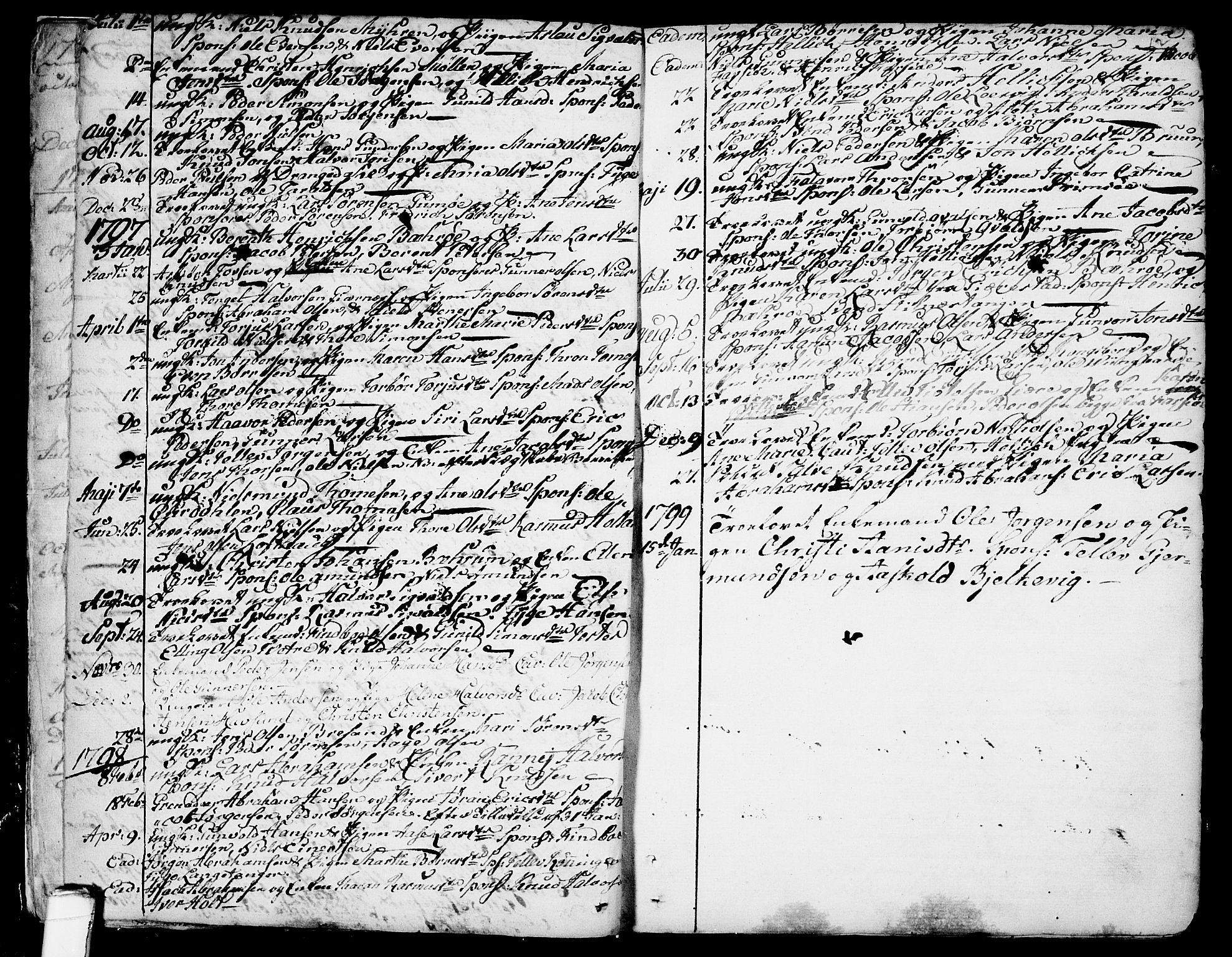 SAKO, Sannidal kirkebøker, F/Fa/L0002: Ministerialbok nr. 2, 1767-1802, s. 9