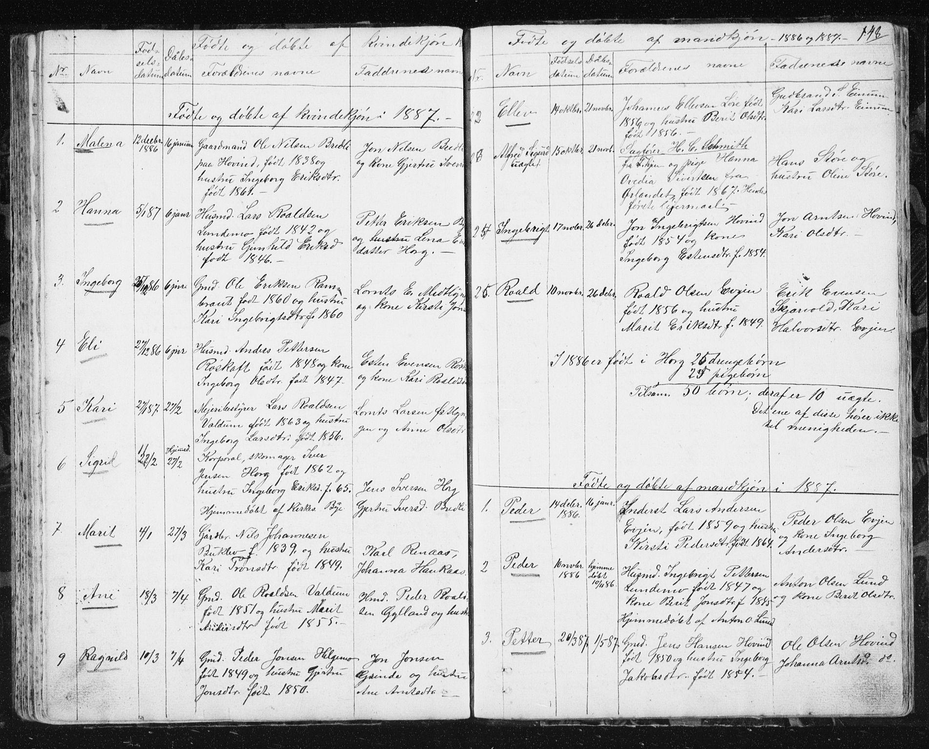 SAT, Ministerialprotokoller, klokkerbøker og fødselsregistre - Sør-Trøndelag, 692/L1110: Klokkerbok nr. 692C05, 1849-1889, s. 148