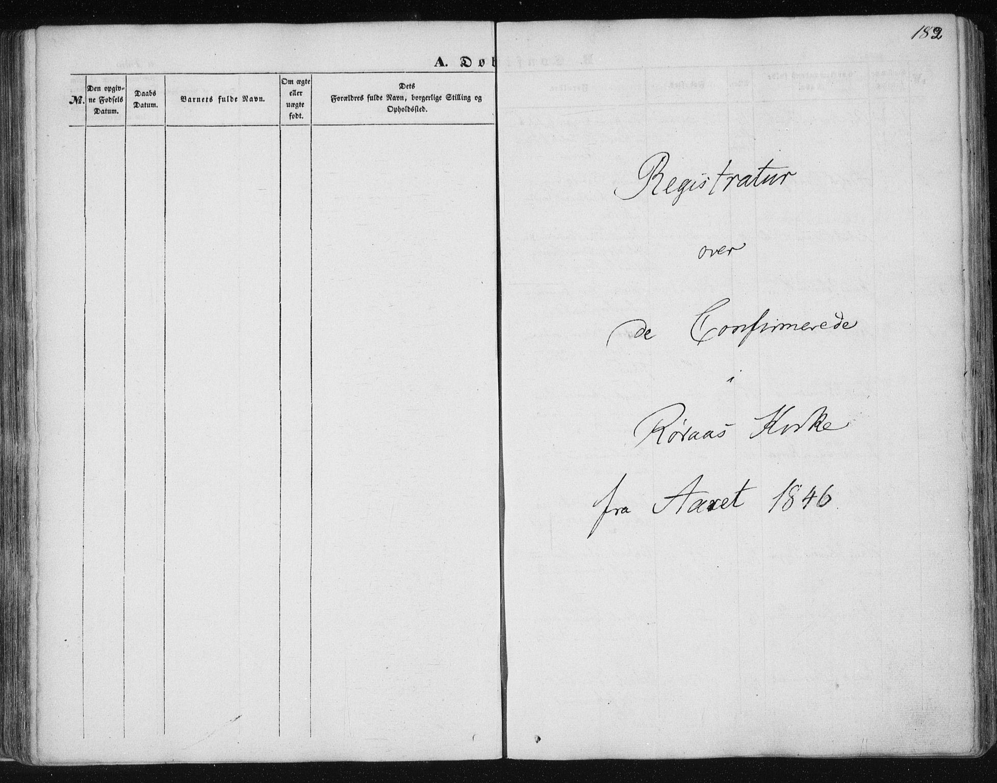 SAT, Ministerialprotokoller, klokkerbøker og fødselsregistre - Sør-Trøndelag, 681/L0931: Ministerialbok nr. 681A09, 1845-1859, s. 182