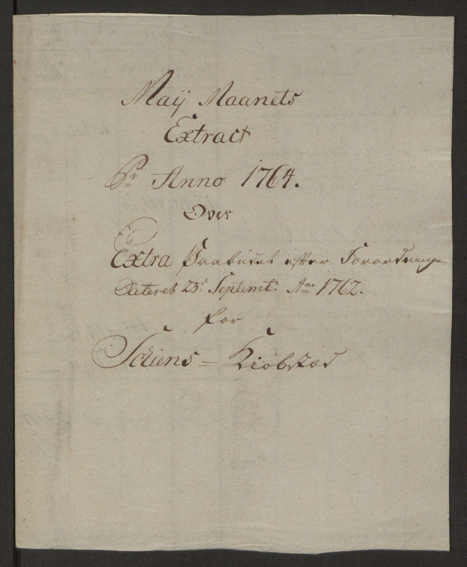 RA, Rentekammeret inntil 1814, Reviderte regnskaper, Byregnskaper, R/Rj/L0198: [J4] Kontribusjonsregnskap, 1762-1768, s. 286